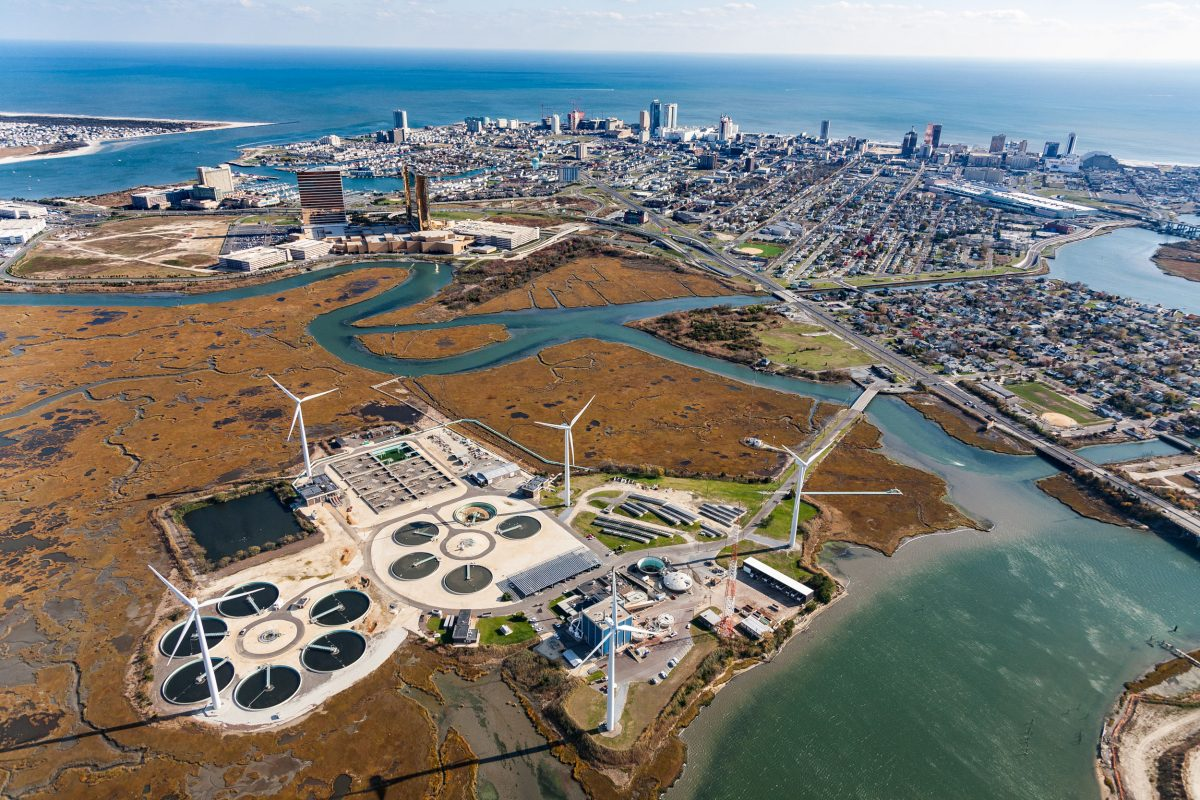 The Atlantic County Utilities Authority wastewater treatment plant in New Jersey