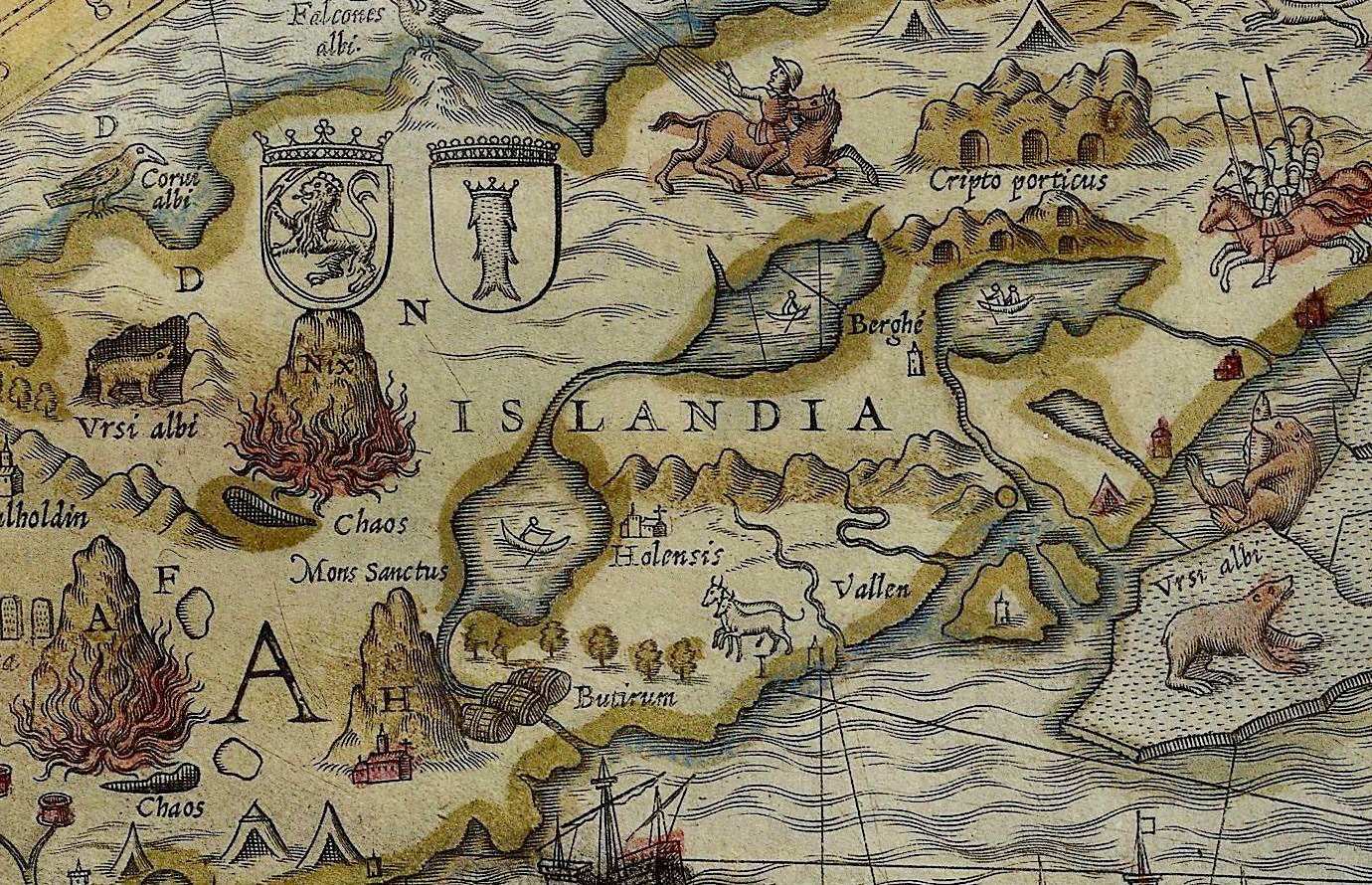 World Map In Renaissance. The 16th century scholar and archbishop of the Swedish town Uppsala  Olaus Magnus was famous for his Carta Marina a splendid map northern Europe Here Be White Bears Hakai Magazine