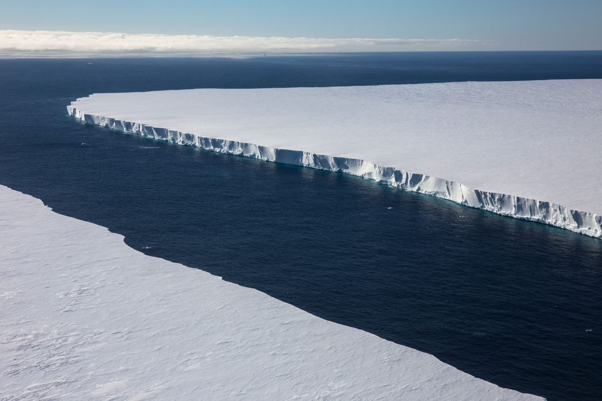 Aerial view of the Ross Ice Shelf