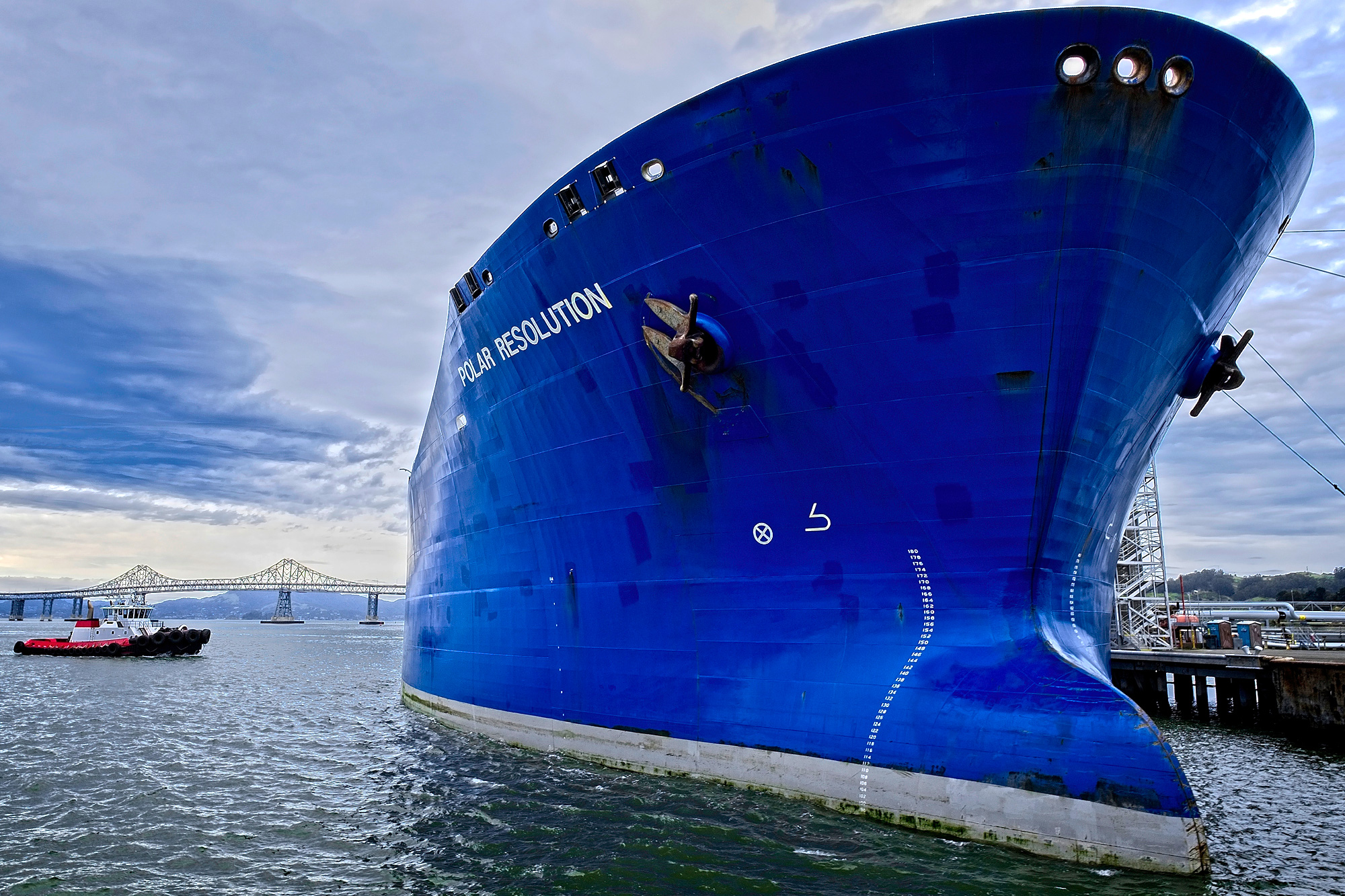 bulbous bow of a ship
