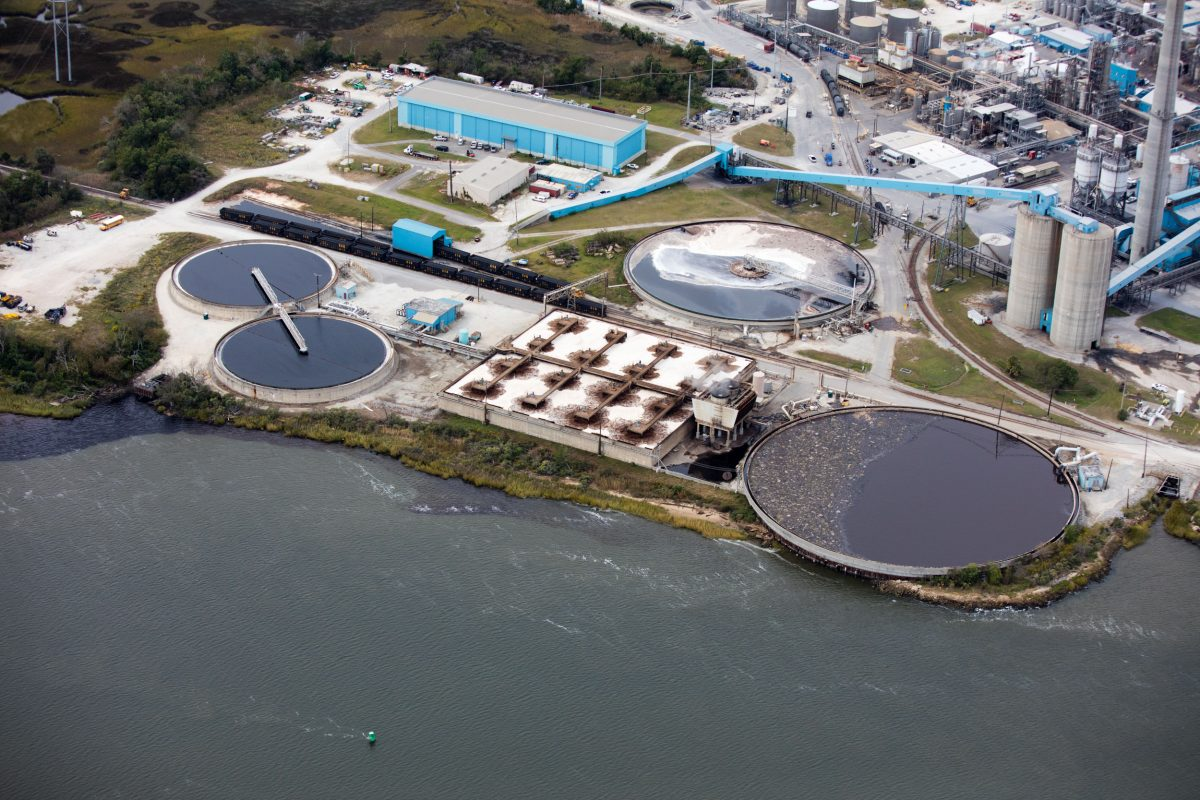 wastewater treatment plant in North Charleston, South Carolina