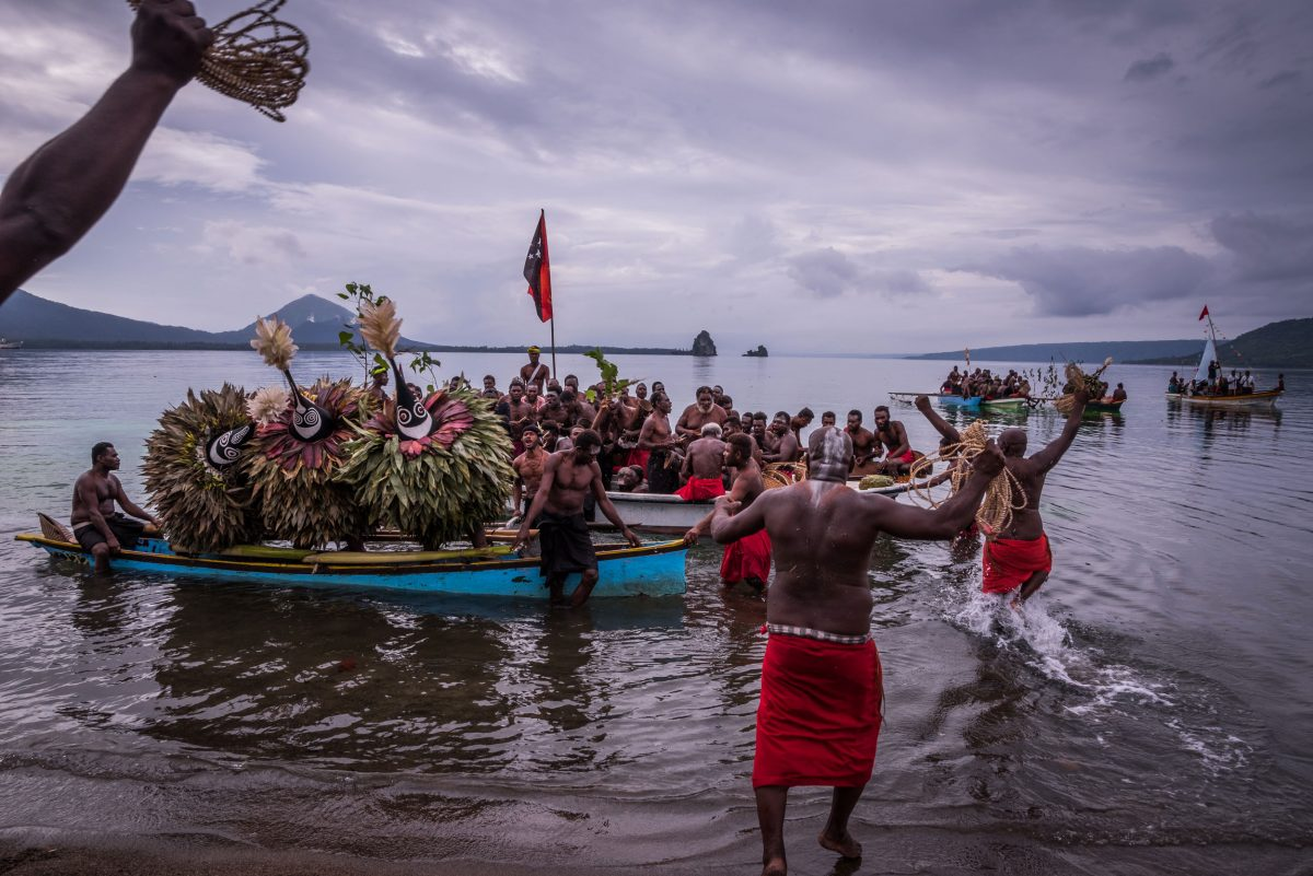 A kinavai event in Papua New Guinea