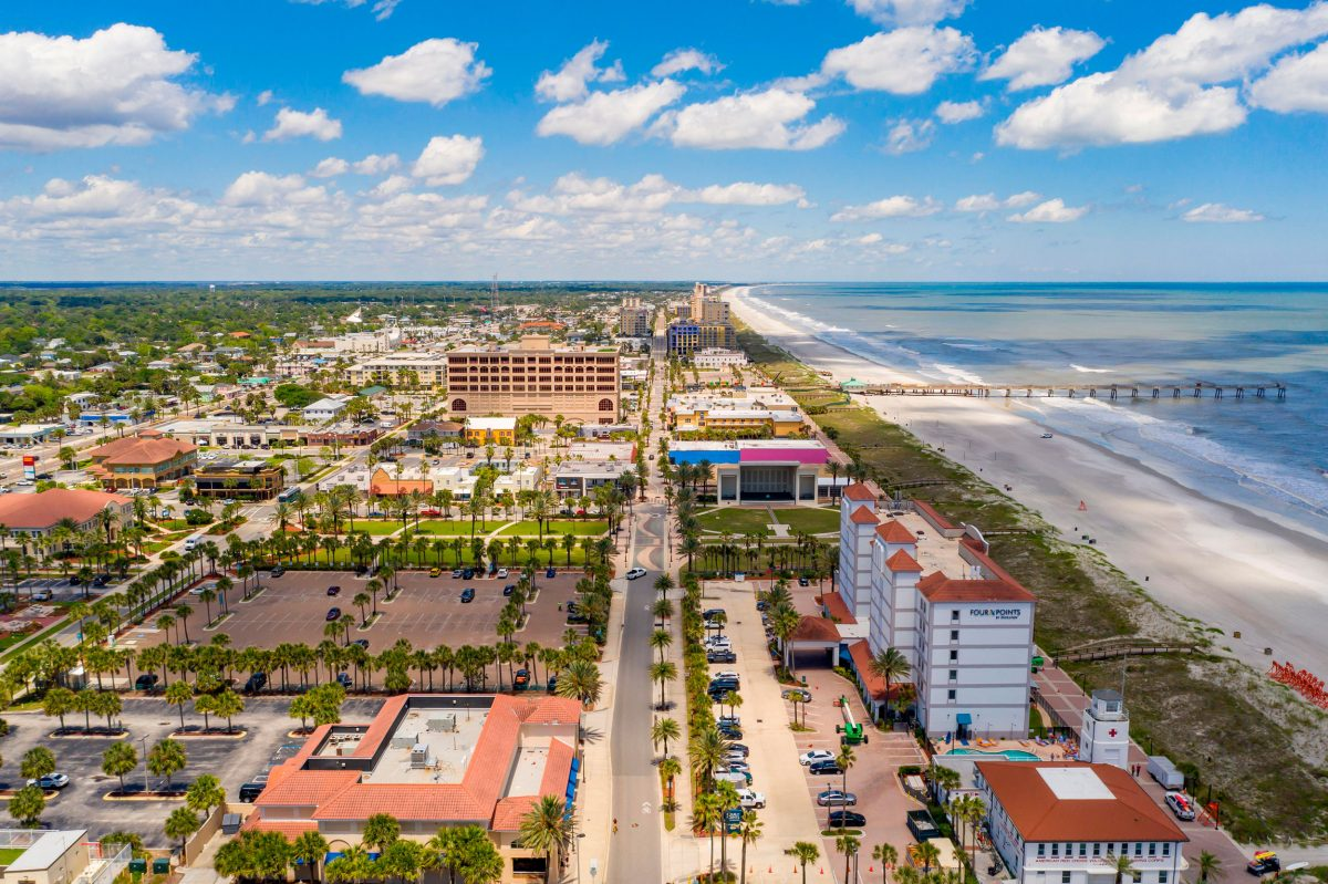 aerial photo of Jacksonville Beach