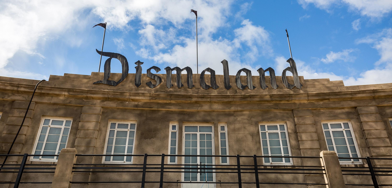 """Dismaland"" was a temporary art installation organized by artist Banksy. A riff on Disneyland, the park was inWeston-super-Mare in Somerset, England. Photo byGuy Corbishley/Demotix/Corbis"