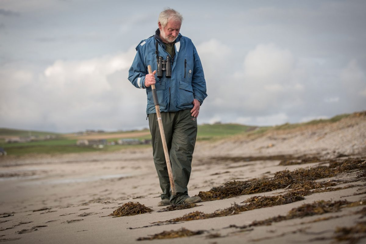Scottish beach debris expert Martin Gray