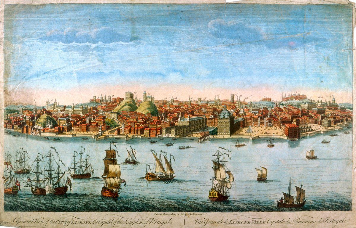 illustration of Lisbon before 1755