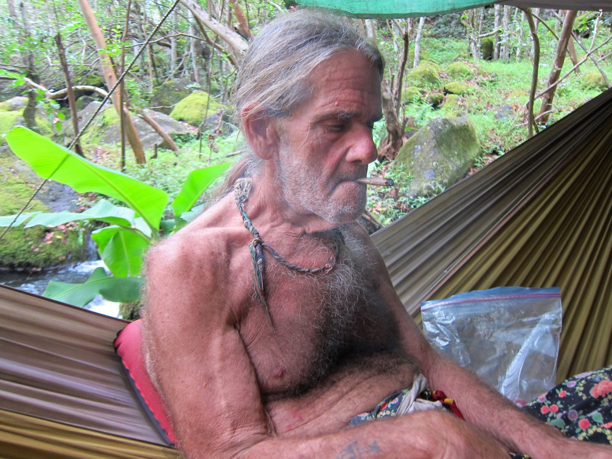 Billy, a squatter in the Kalalau Valley