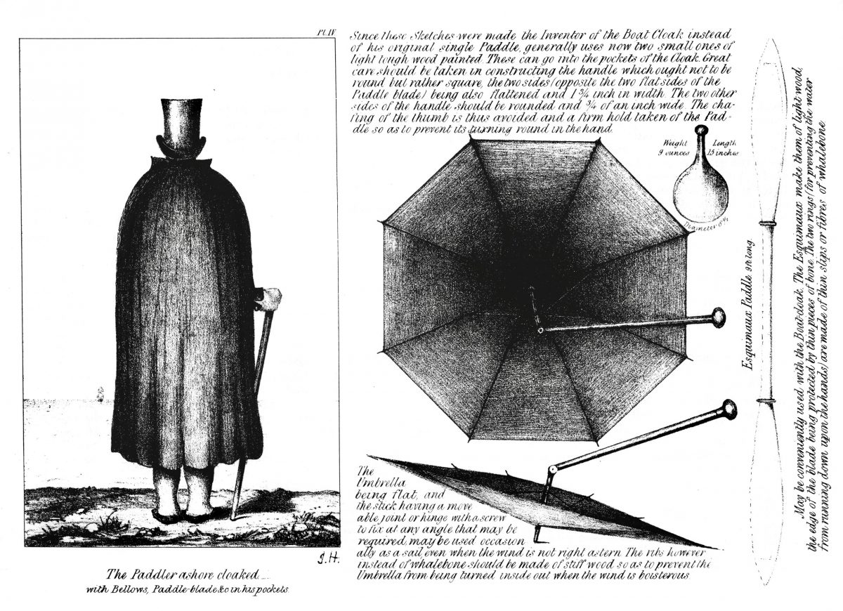An image from a brochure for the Halkett boat cloak