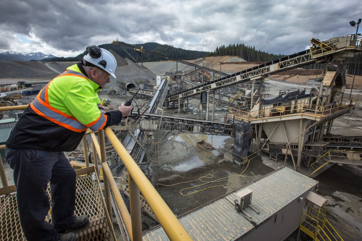 Manager Brian Buckley looking over the sediment mining operation at Orca Quarry. Photo by Grant Callegari