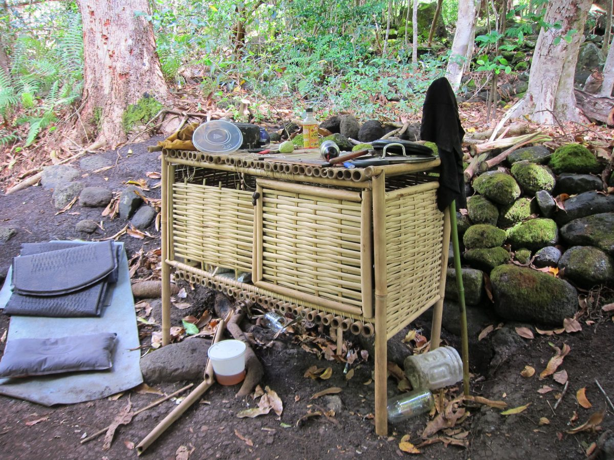 A handmade cabinet made by a squatter in the Kalalau Valley