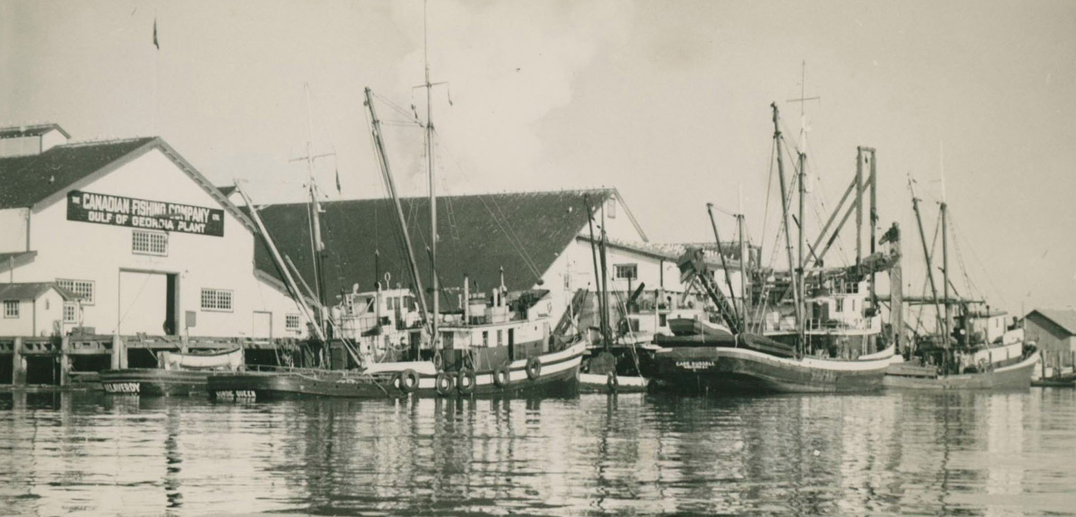 Built in 1894, the Gulf of Georgia Cannery, shown on the left, is one of British Columbia's few historically intact canneries. It is now operated as a Canadian national historic site. Photo courtesy of Gulf of Georgia Cannery