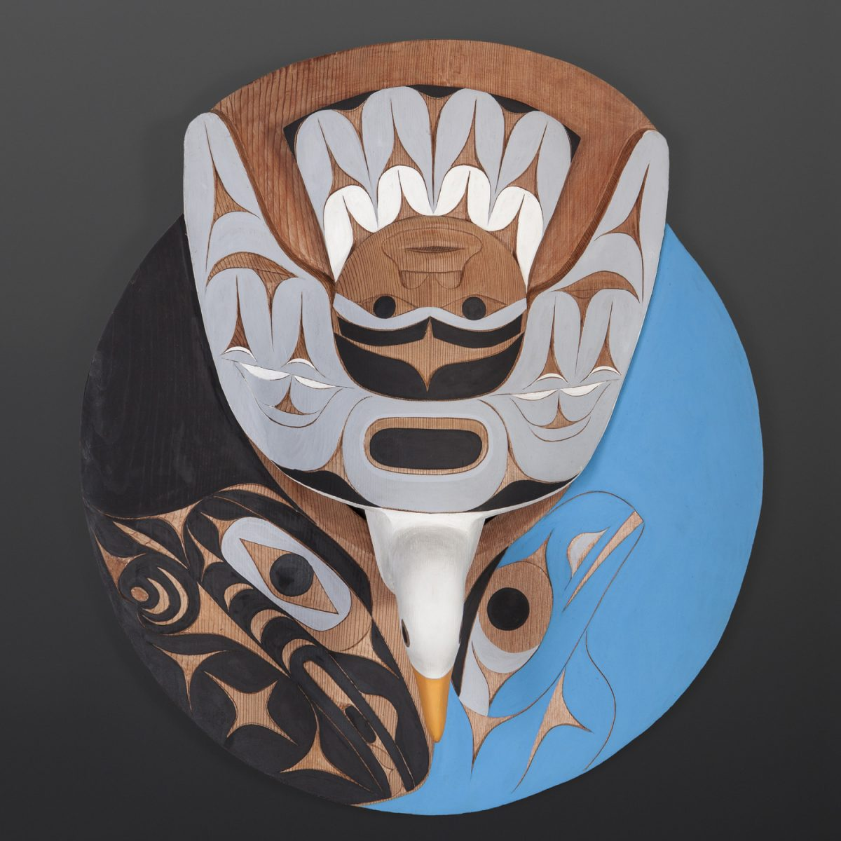 carving Raven and Seagull Releasing Daylight, by Nuu-chah-nulth artist Tim Paul