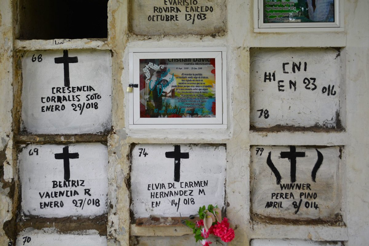 Cemetery in Turbo, Colombia