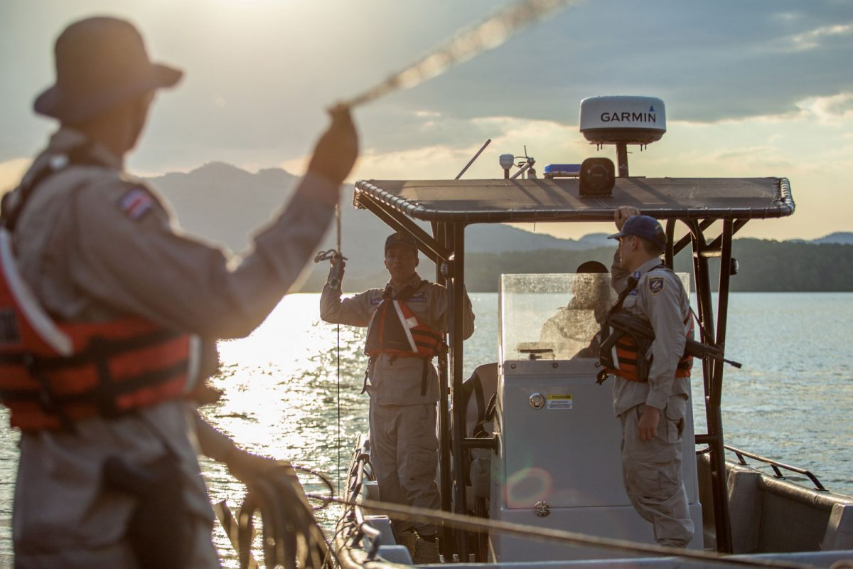 Coast guard officers in Costa Rica