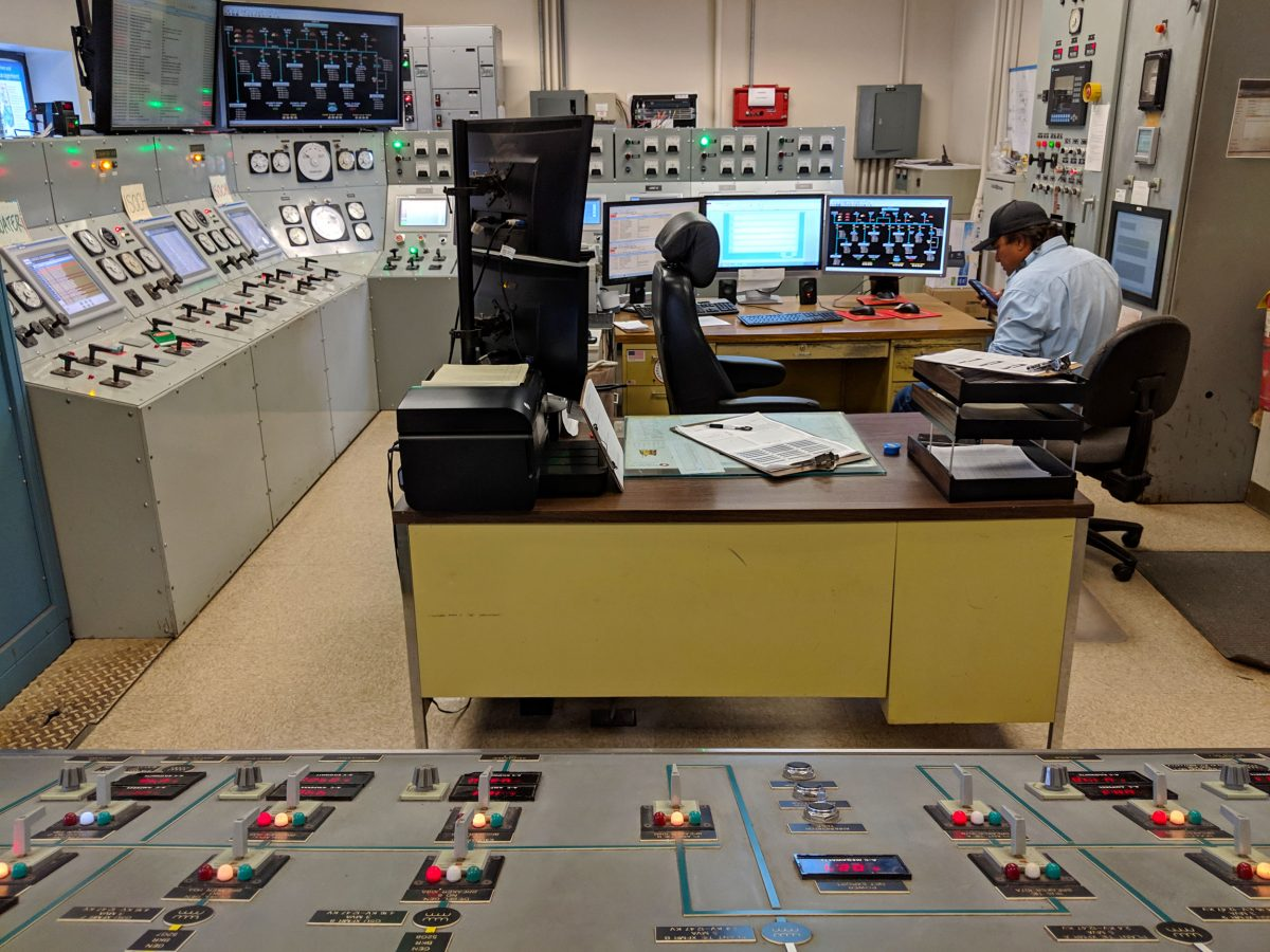 Control room of power plant