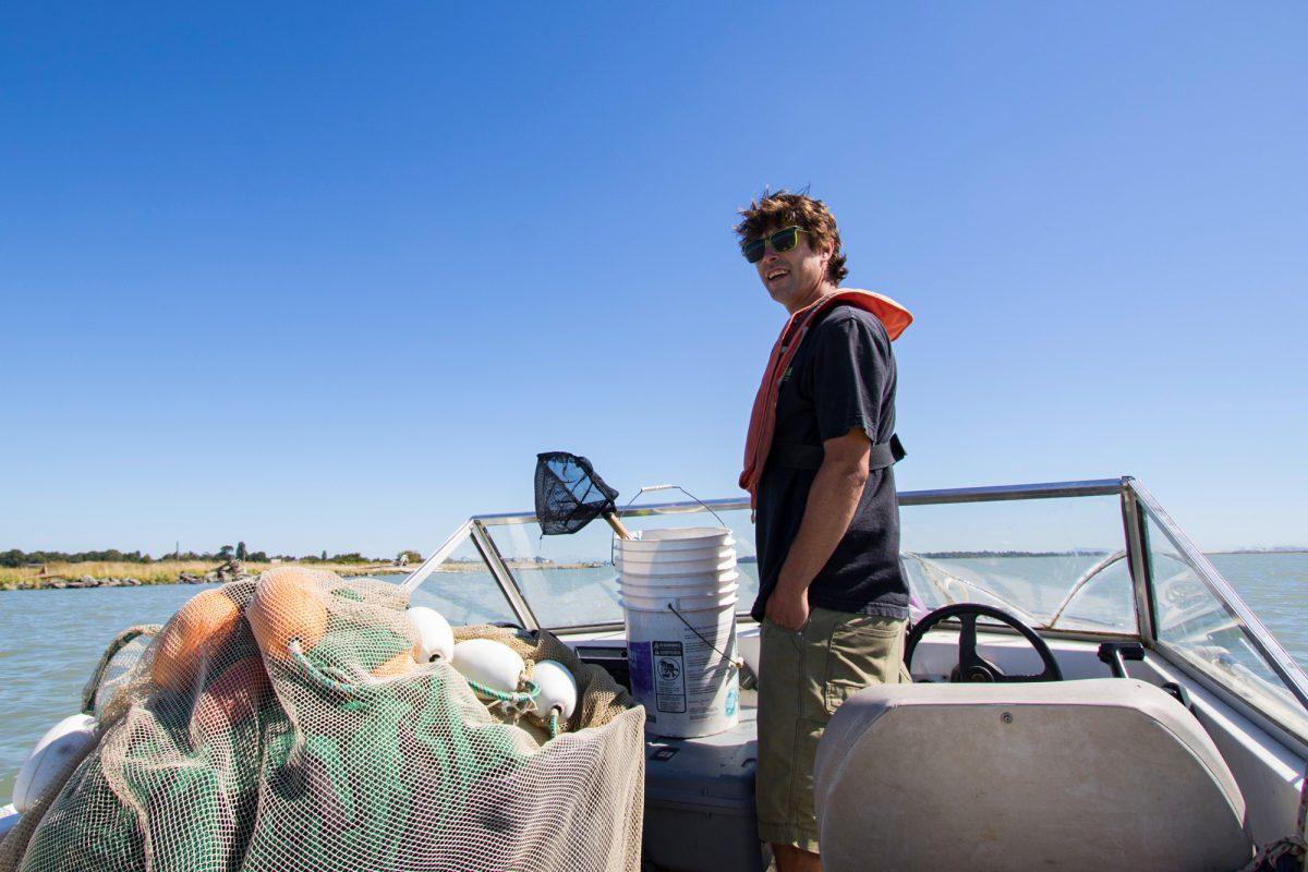 Salmon biologist Dave Scott