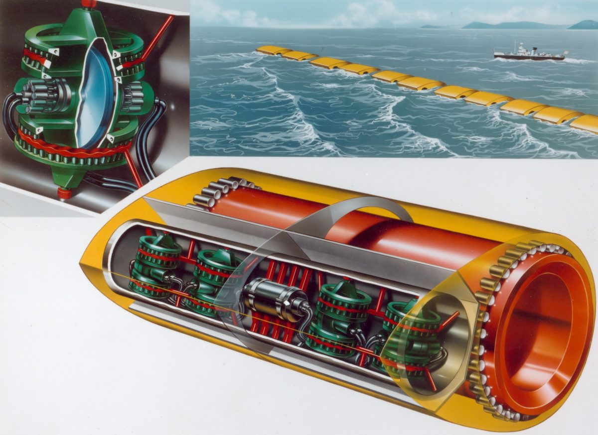 The Edinburgh duck once showed promise as a wave-energy converter. Image courtesy of the University of Edinburgh