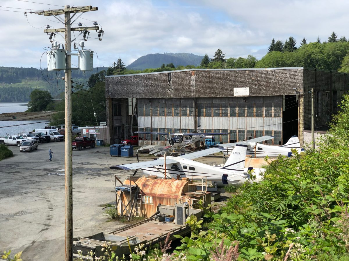 Modern photo of the building that was once the Coal Harbour whaling station