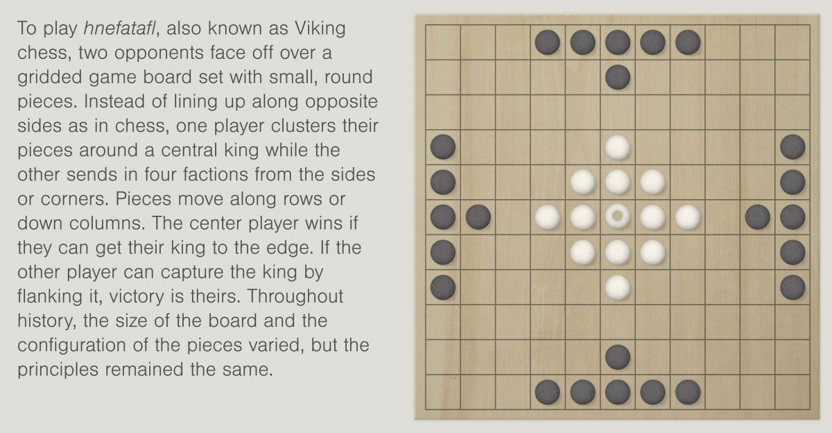 a hnefatafl game board and possible rules of play