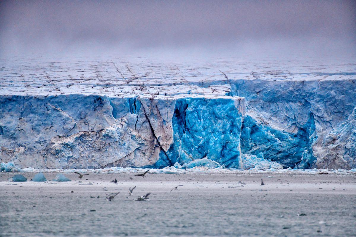 Svalbard's Kronebreen glacier