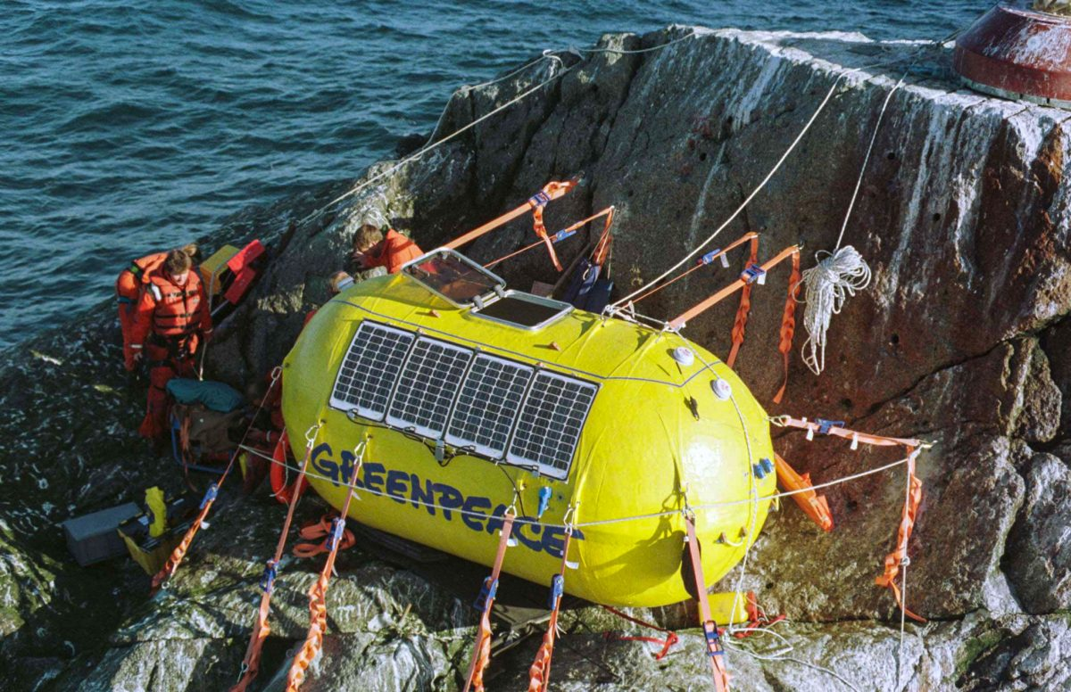 Greenpeace activists on Rockall