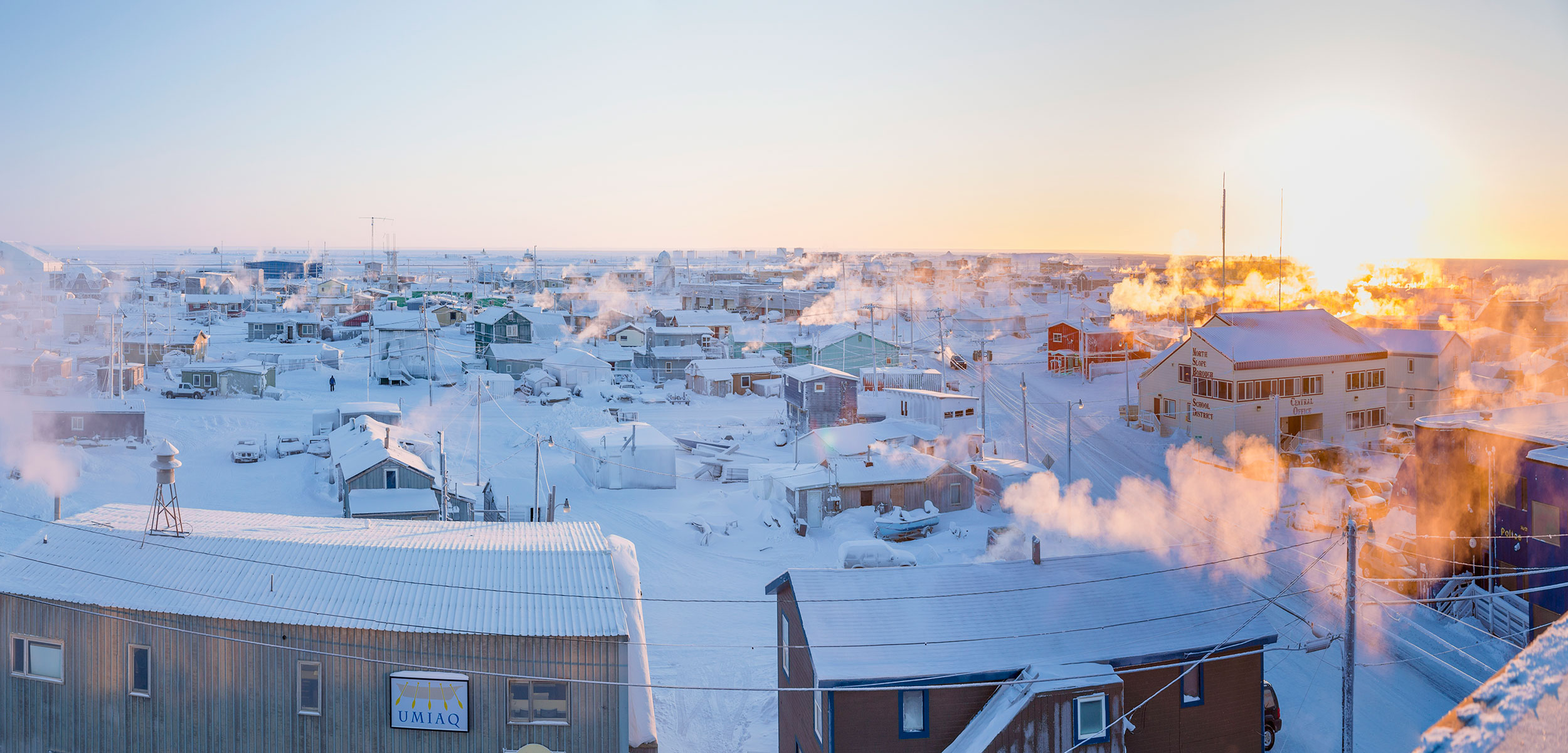 Barrow, Alaska, is the northernmost American city, above the Arctic Circle and along the Chukchi Sea coastline. Photo by Kevin Smith/Design Pics/Corbis