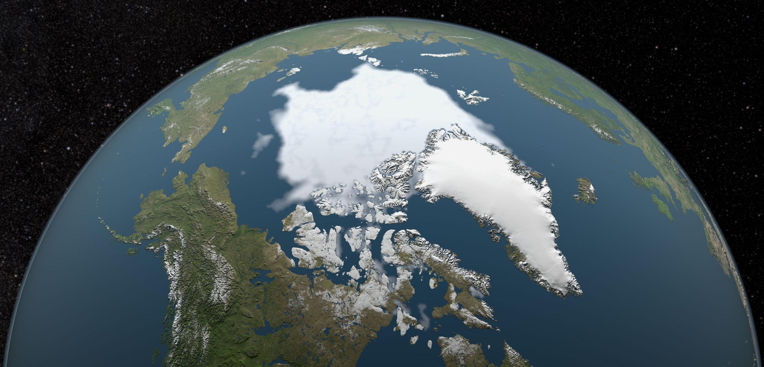 Graphic showing arctic sea ice