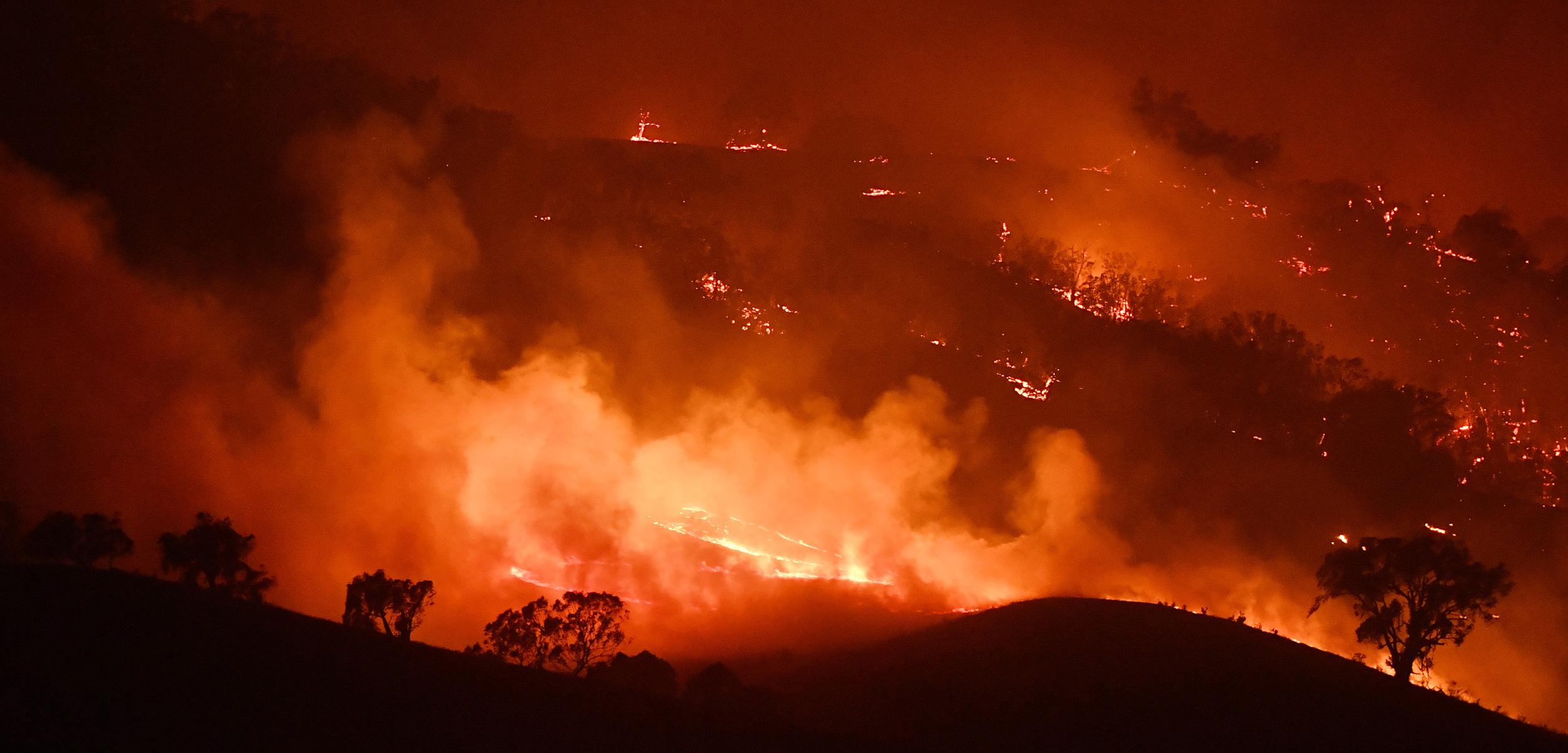 wildfire in Australia