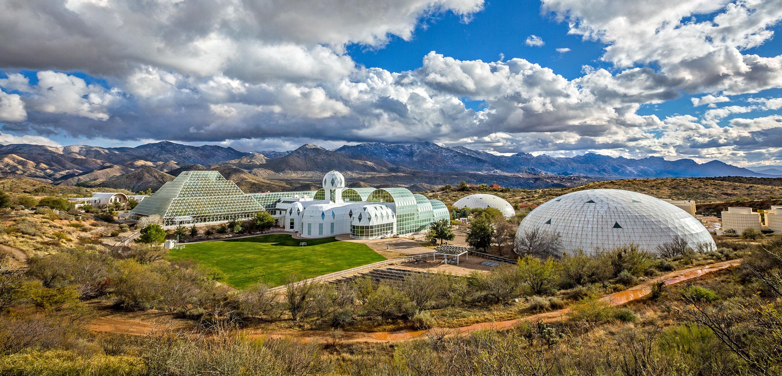 exterior of Biosphere 2