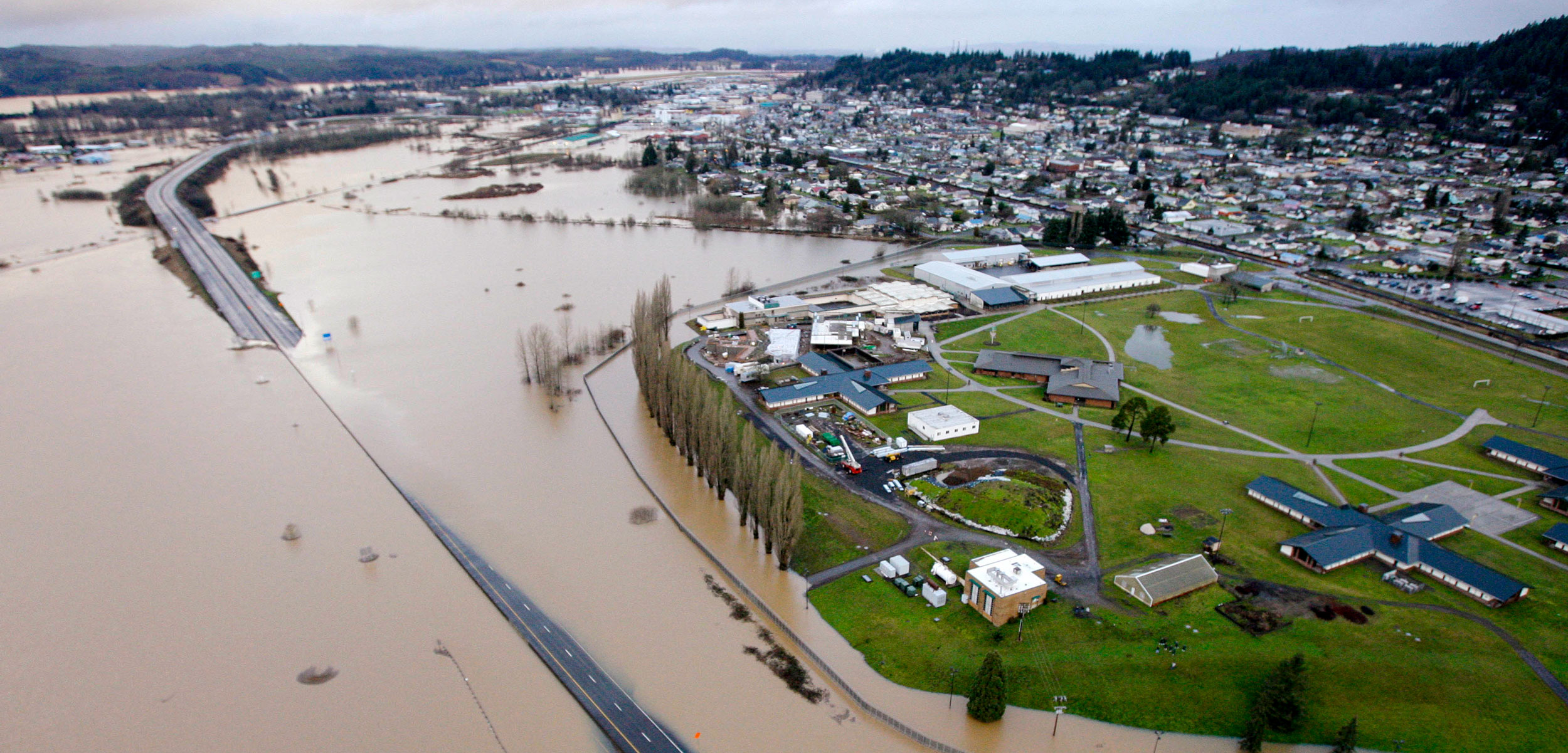 aerial view of 2009 flooding in Washington State