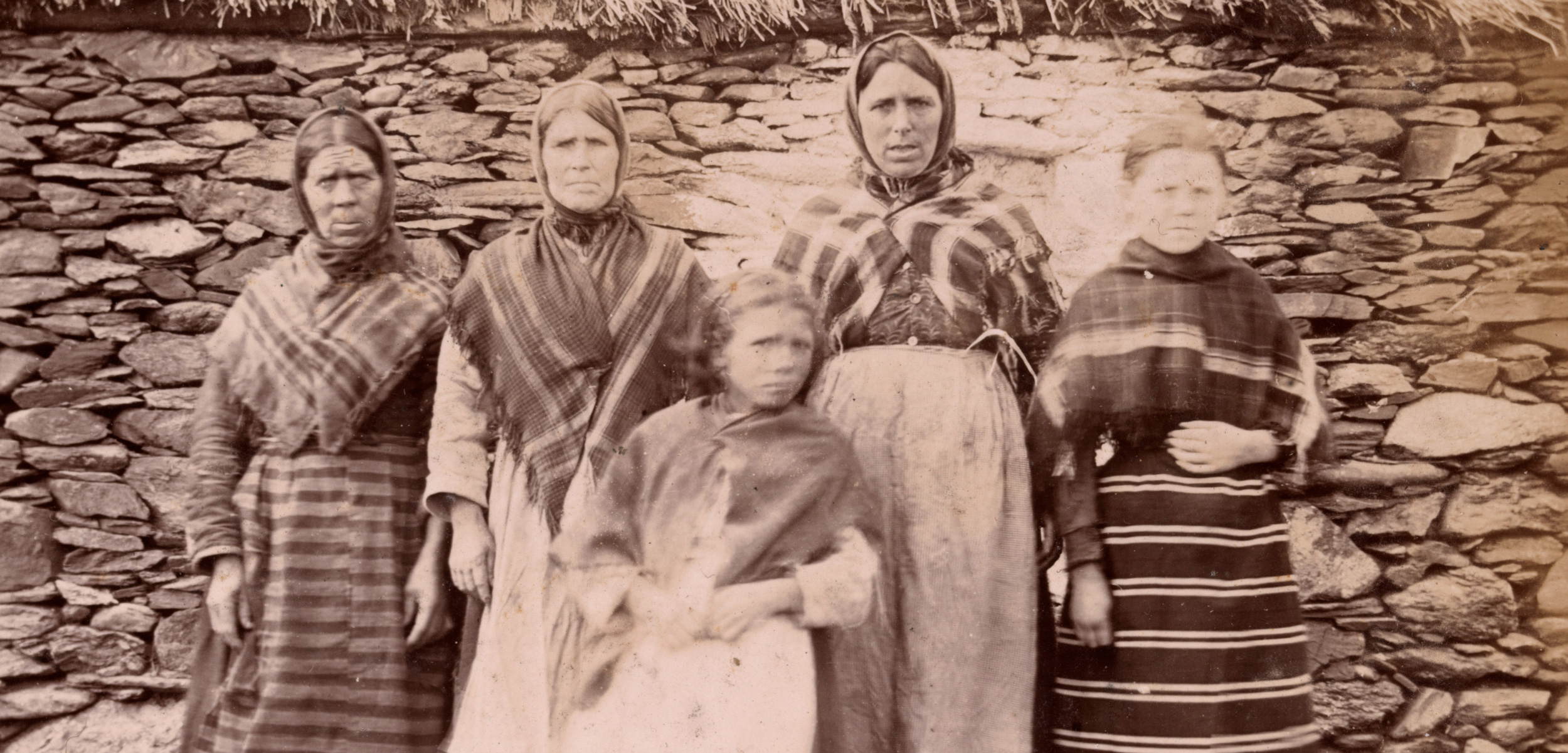After surviving starvation on the Irish island of Inishbofin, the women and children of the Halloran family never abandoned hope for a better future. Photo courtesy of Trinity College Library Dublin