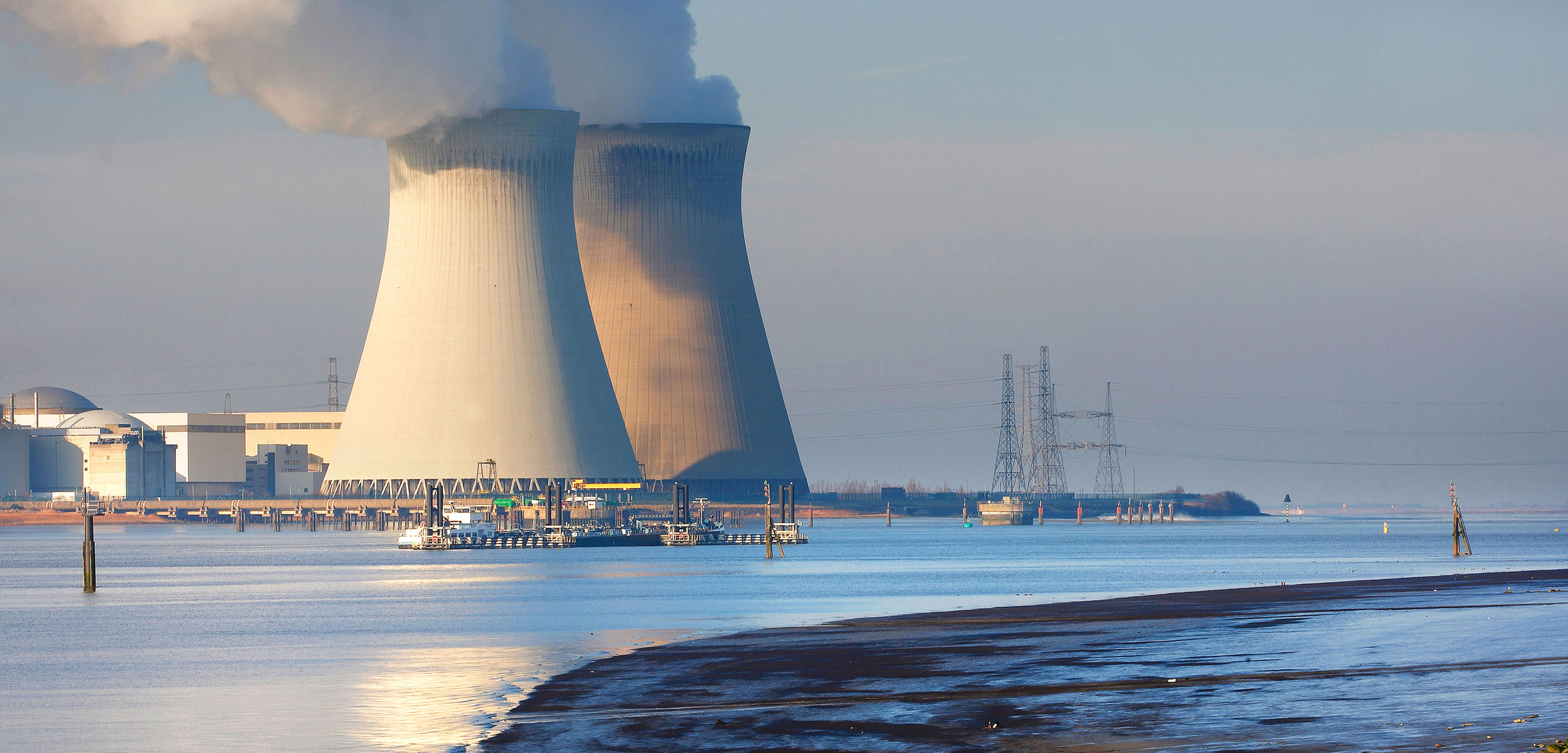nuclear power plant at the coast, Belgium, Galgeschoor, Antwerp