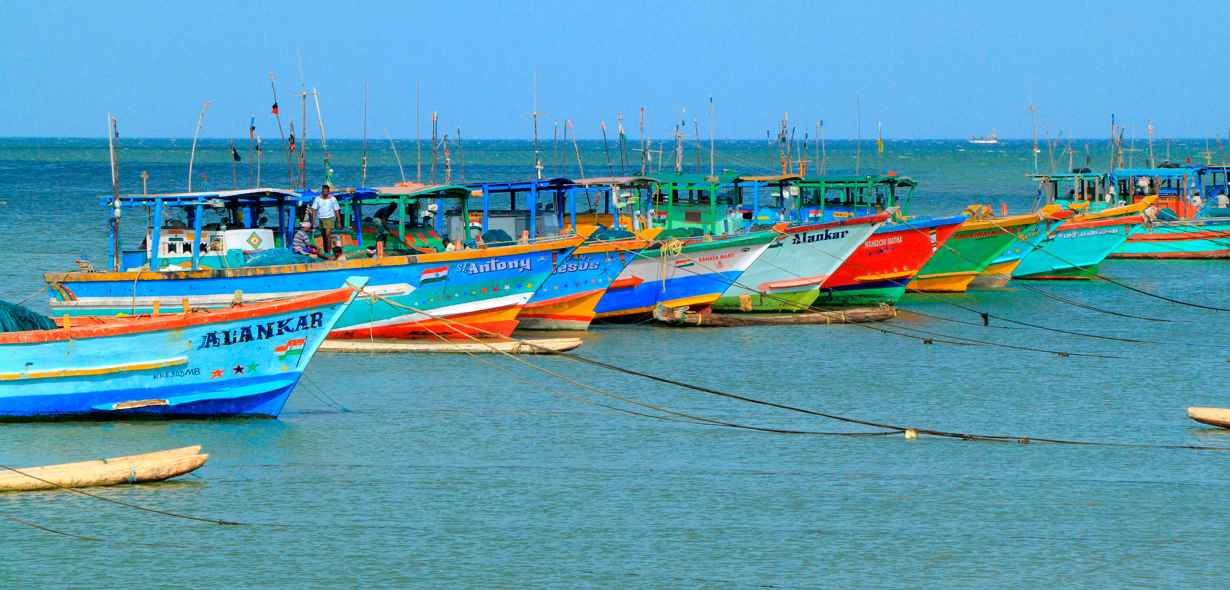 fishing boats in India