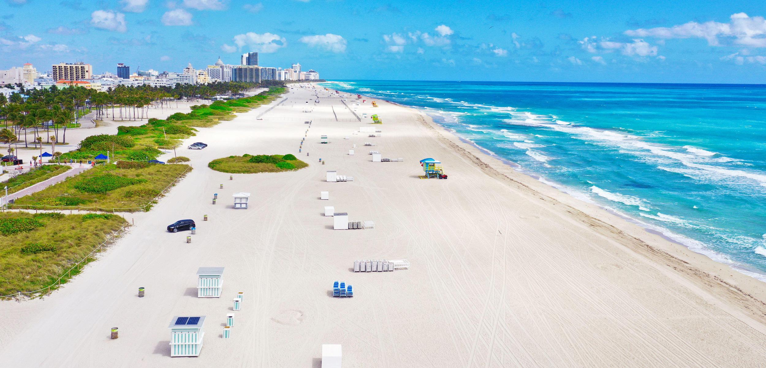 Miami Beach beach and Fort Lauderdale beach closed due to coronavirus COVID-19