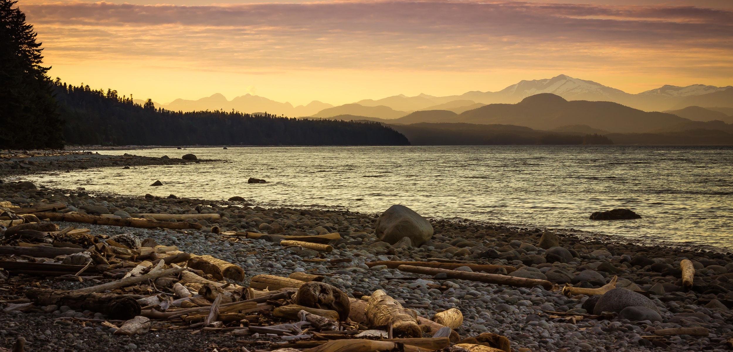 Quadra Island, BC shoreline