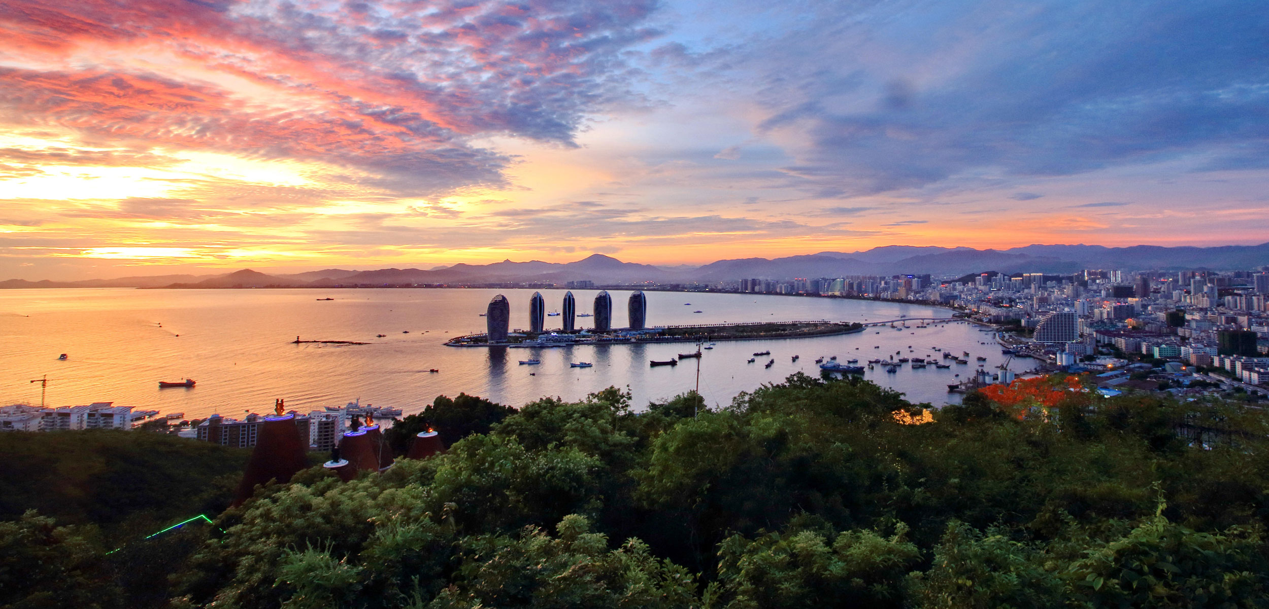 Sanya, Hainan, China at sunset