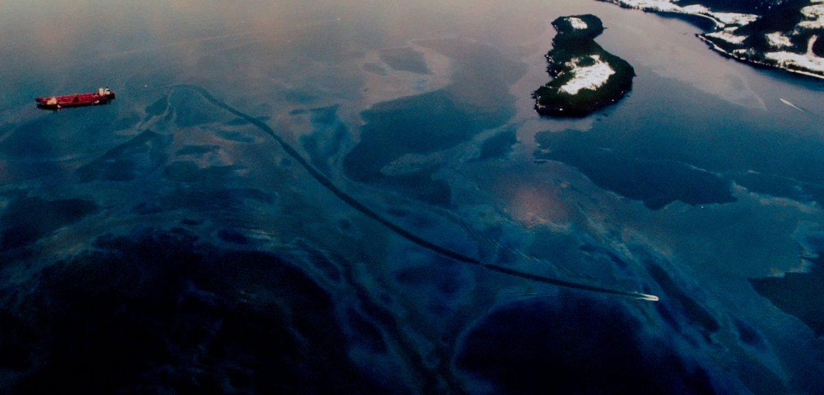 Exxon Valdez and its oil slick