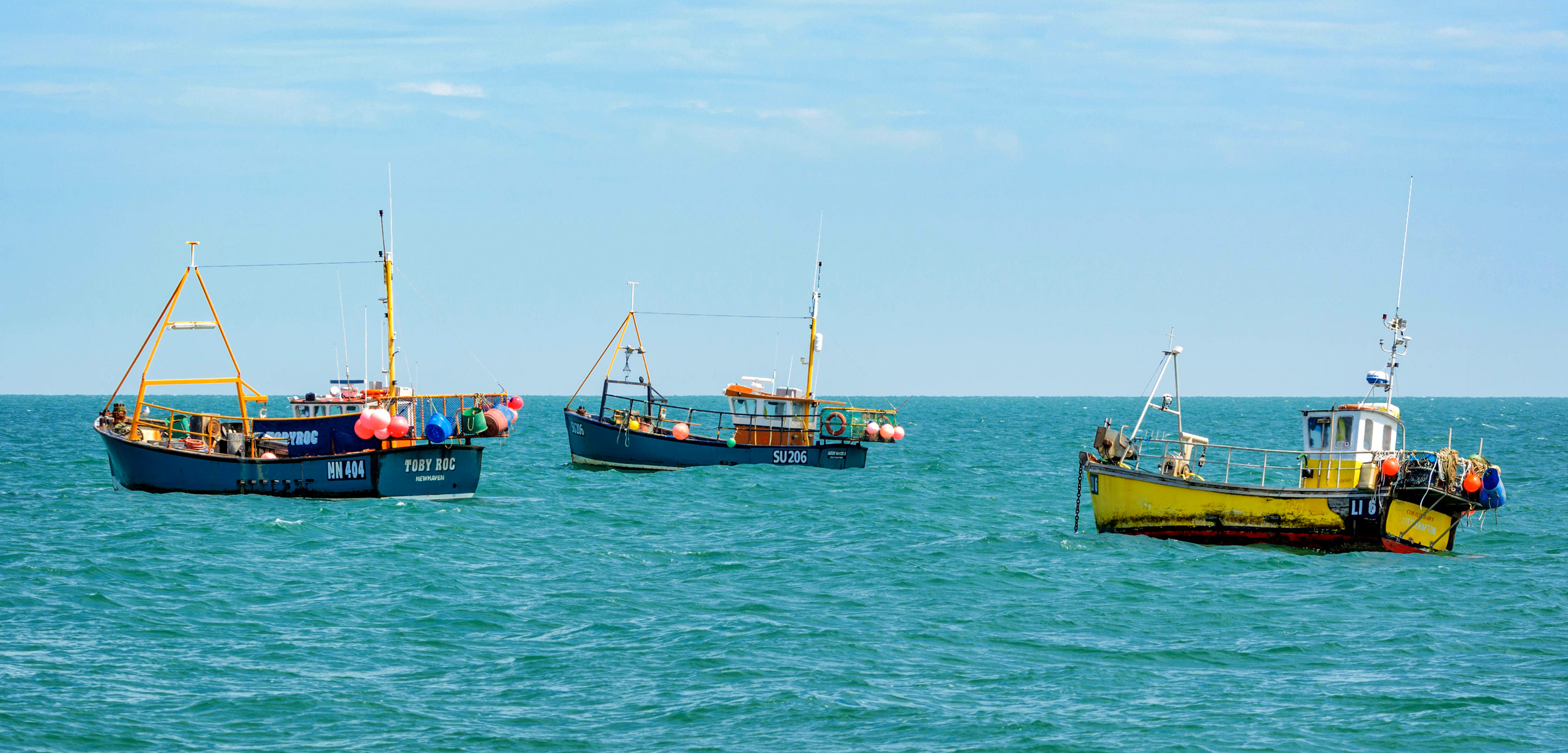 fishing boats in the English Channel