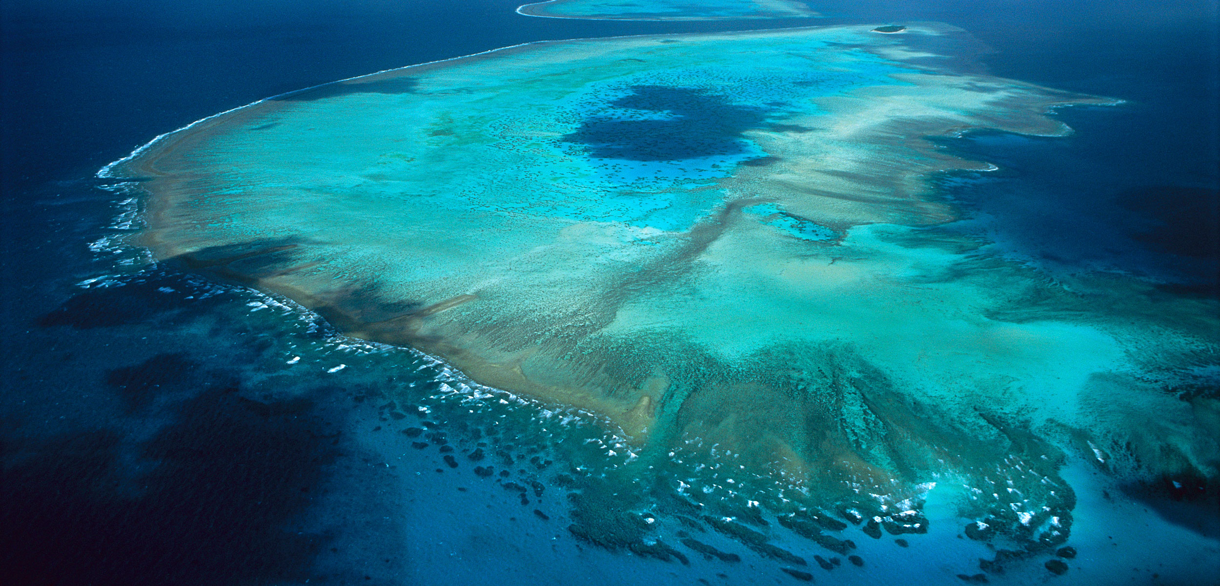 aerial photo of the Great Barrier Reef