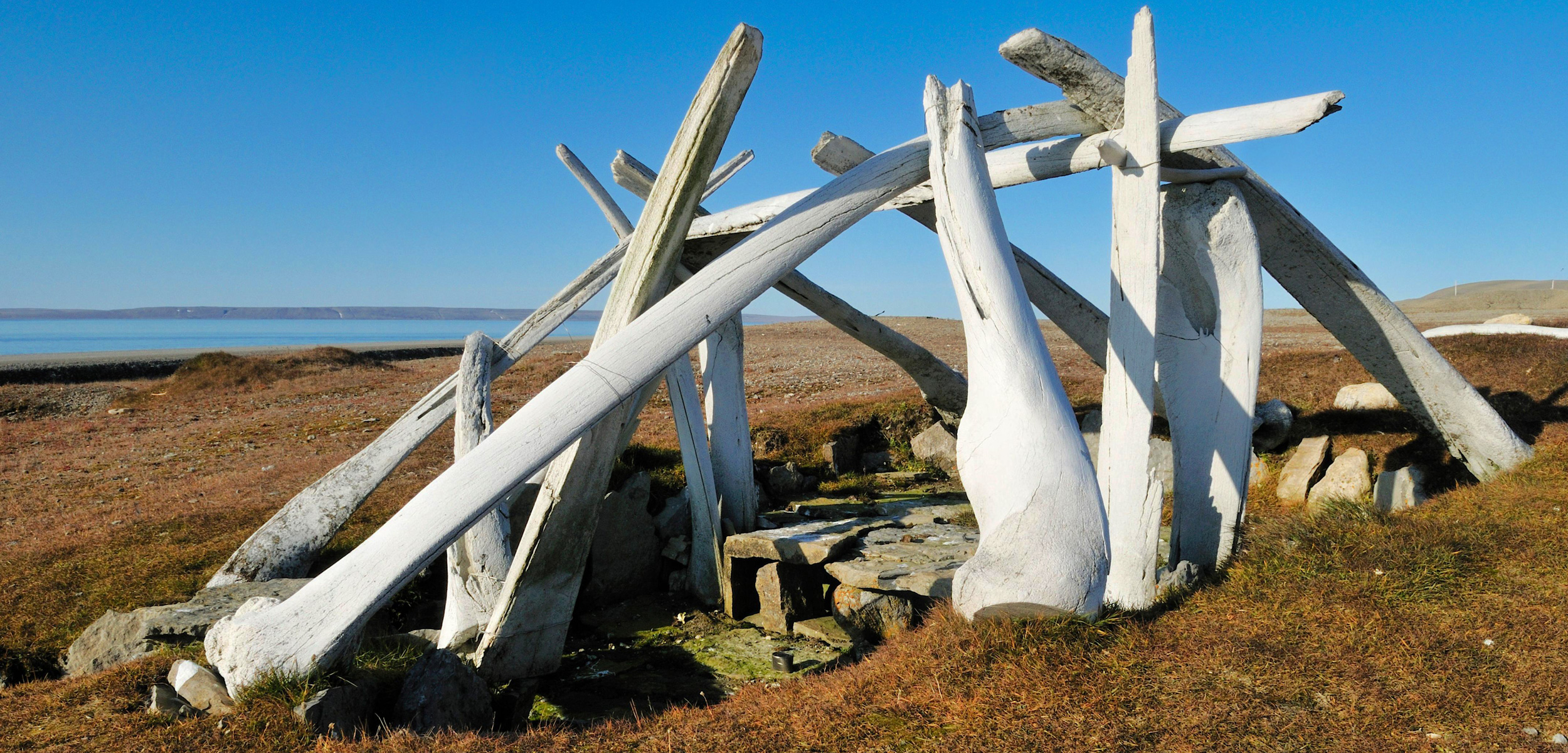This replica whale bone house on Cornwallis Island, Nunavut, shows how the homes were constructed hundreds of years ago. Photo by age fotostock/Alamy Stock Photo