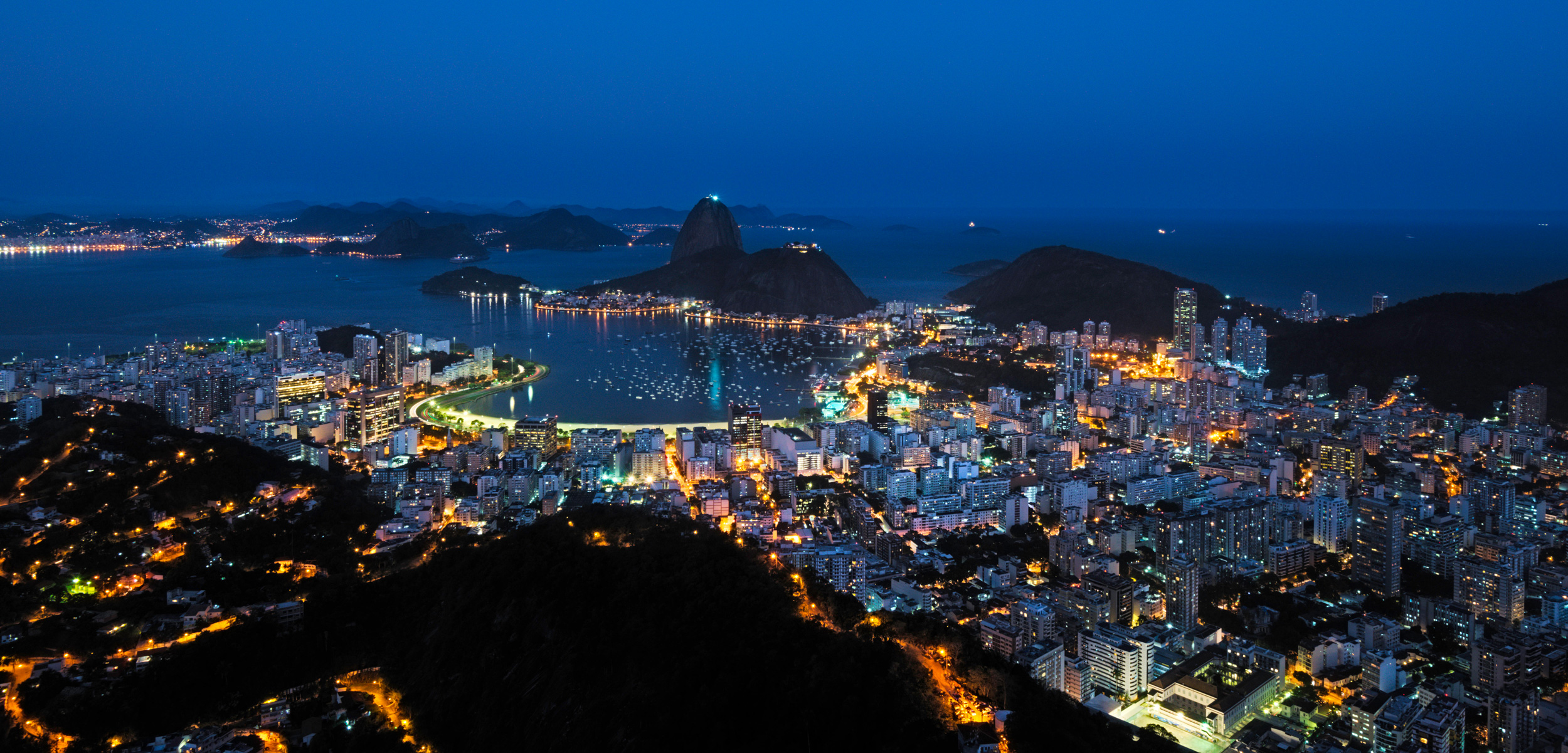 Rio de Janeiro, Brazil at night