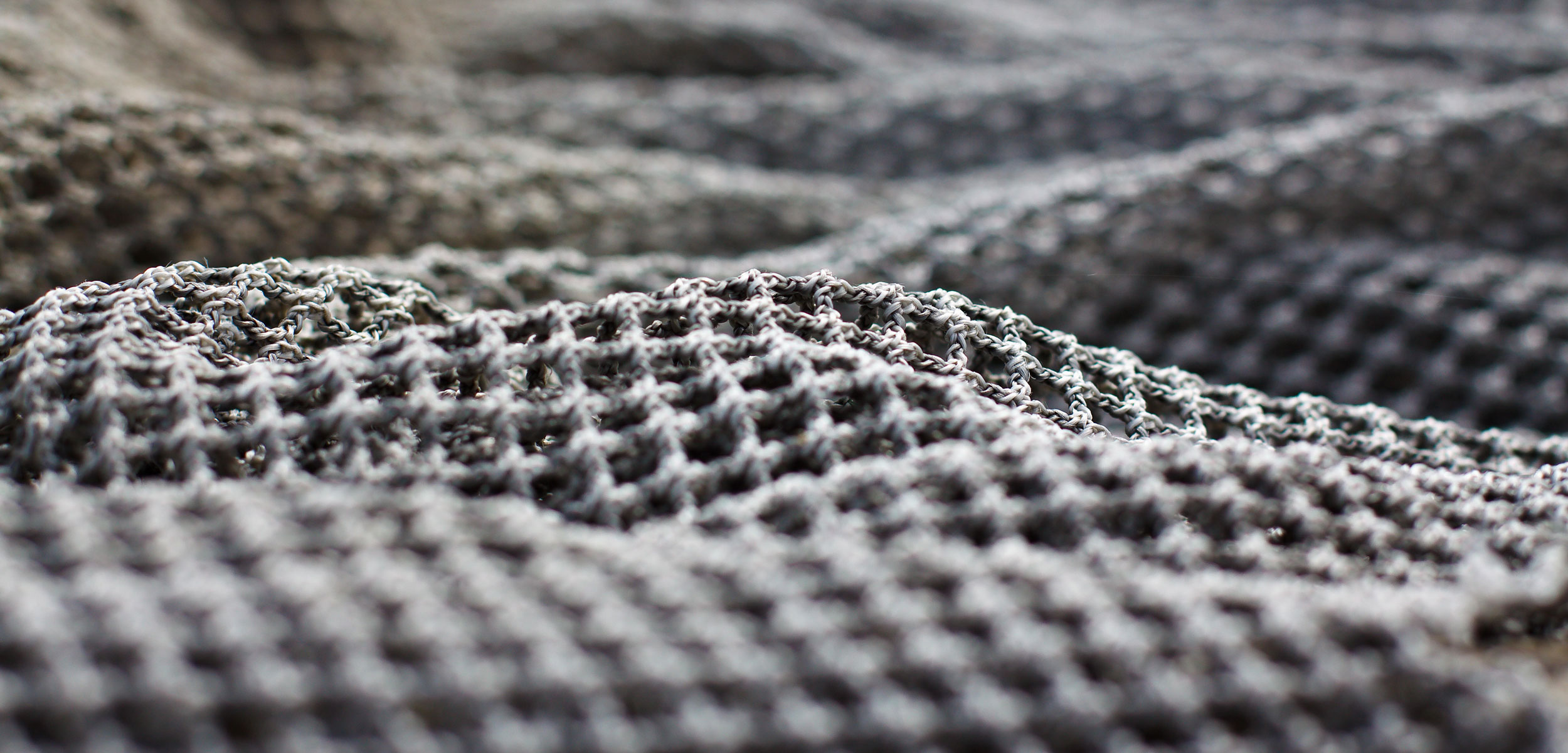 close up photo of a fishing net