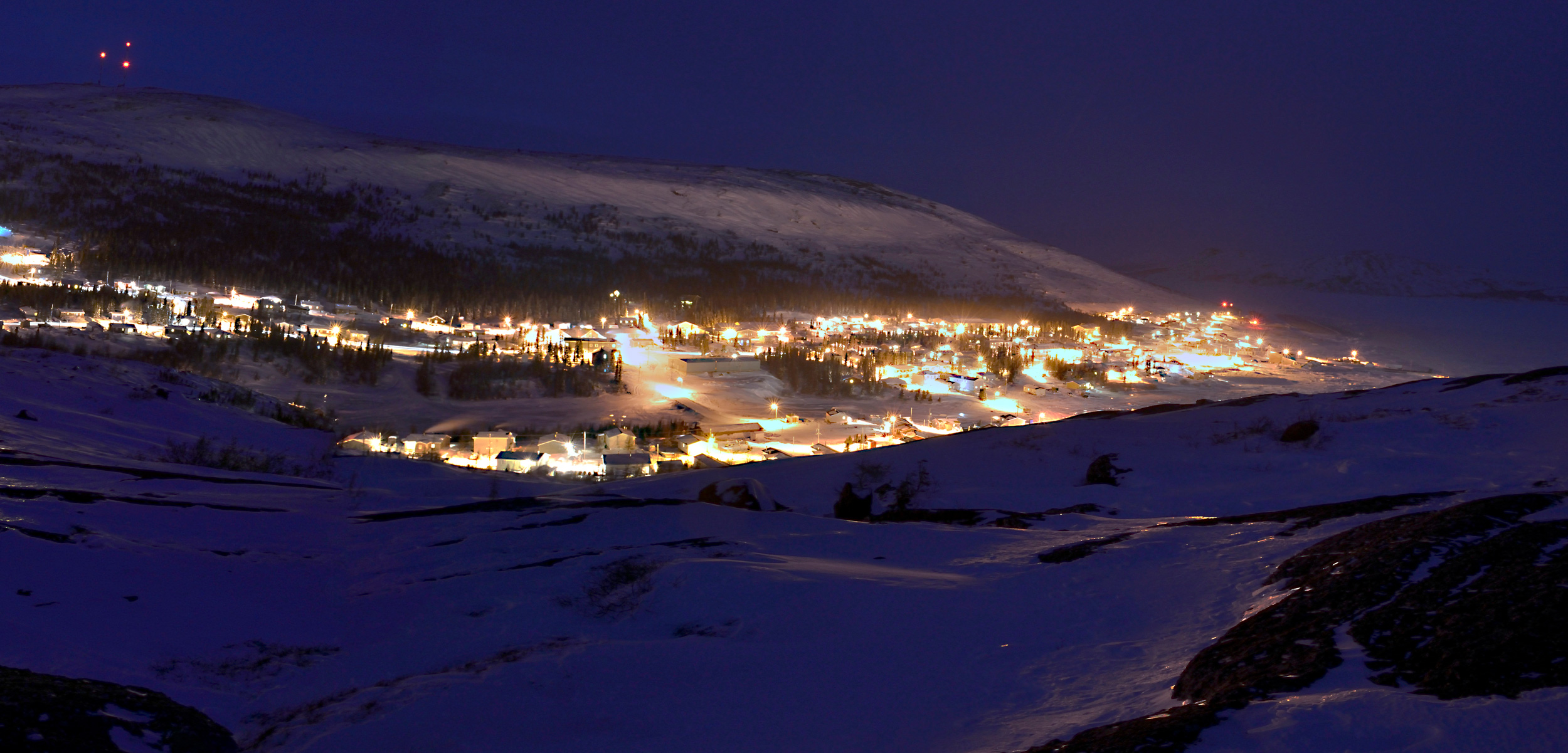 In Nain, a coastal village in Newfoundland and Labrador, the approximately 1,400 residents rely on sea ice for transportation and traditional activities. Photo by Master Corporal Robert LeBlanc, 5th Canadian Division Public Affairs
