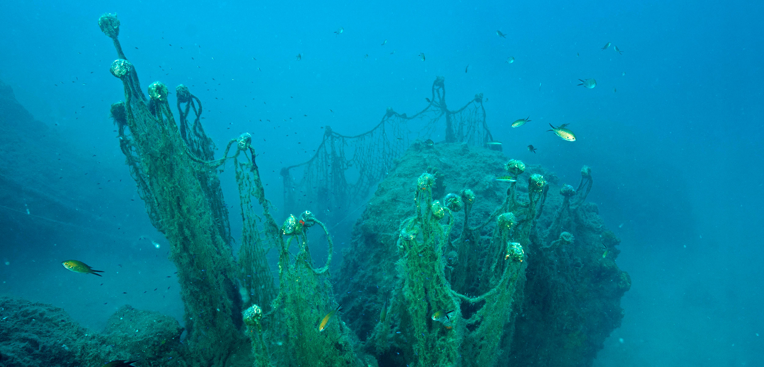 lost fishing gear on ocean floor