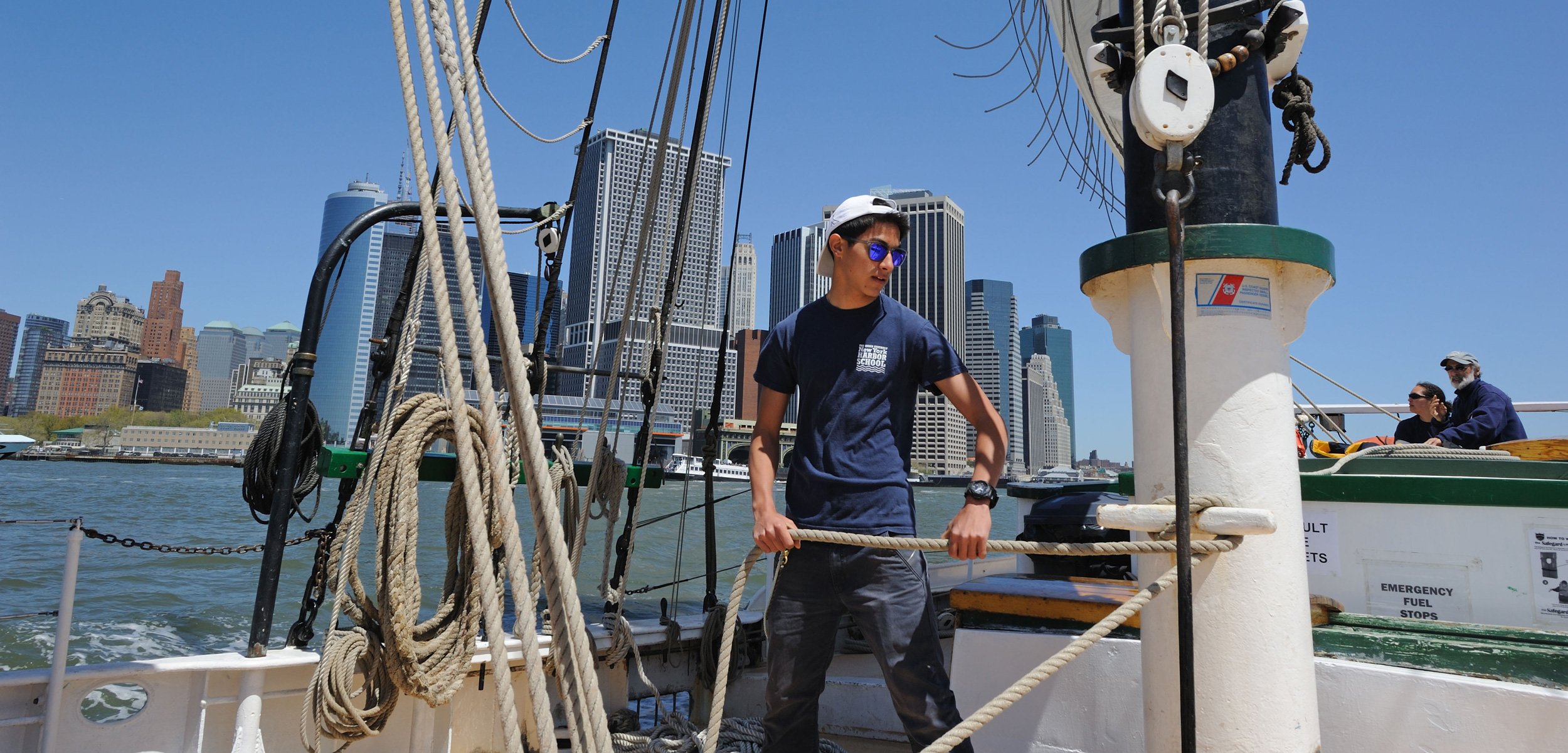 The Urban Assembly New York Harbor School is one of a growing number of high schools around the world teaching students maritime-related skills, such as how to sail. Photo by Terese Loeb Kreuzer/Alamy Stock Photo