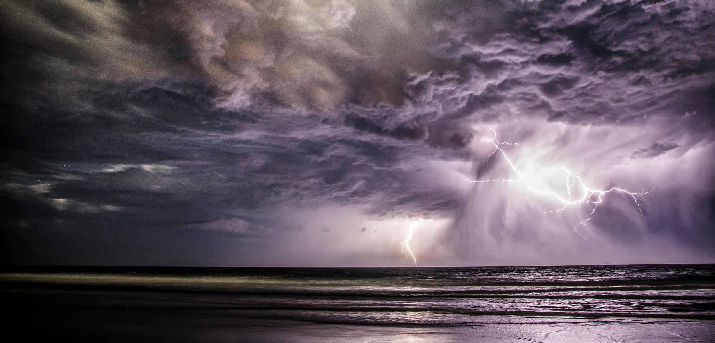 Lightning Storm over ocean