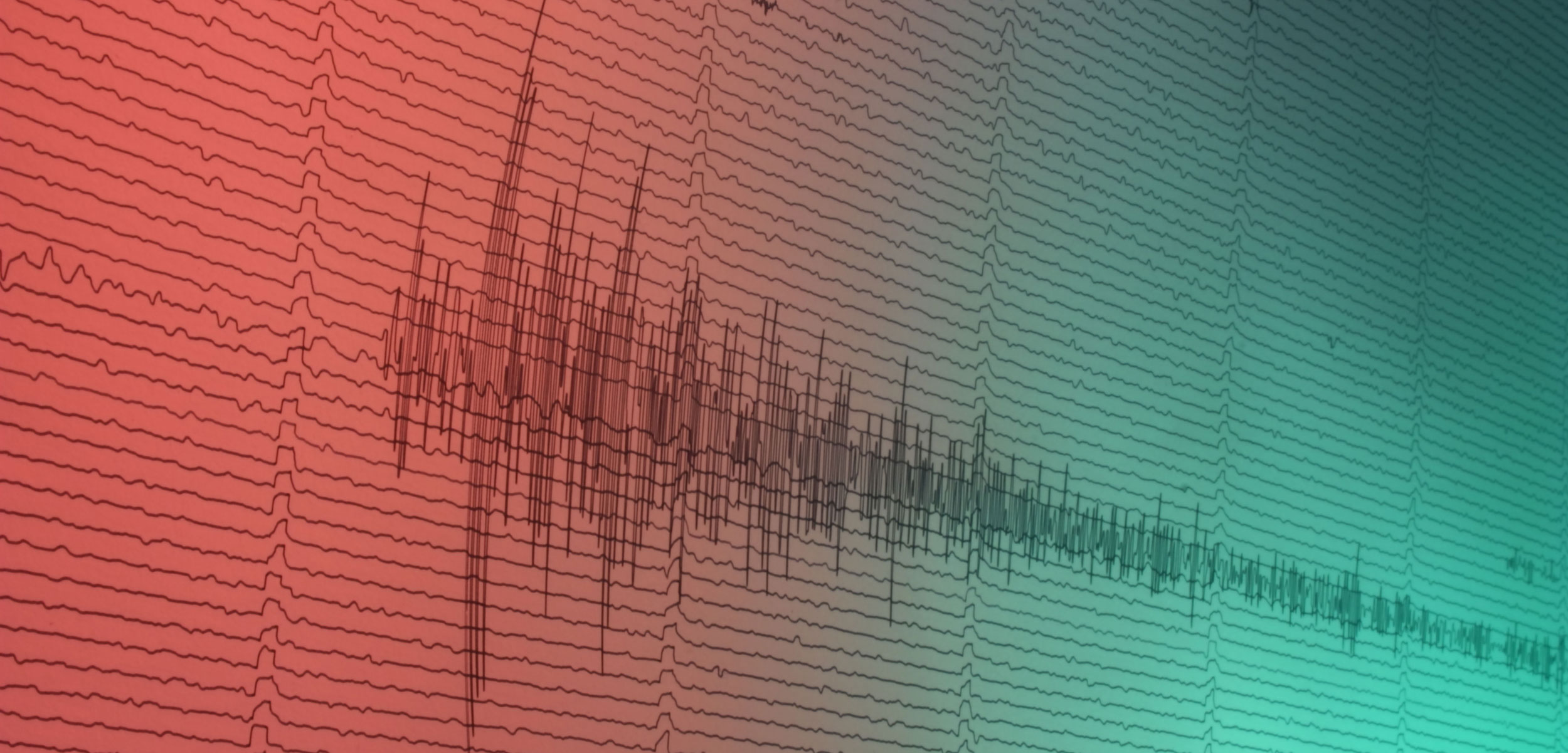 a large earthquake recorded on a seismograph