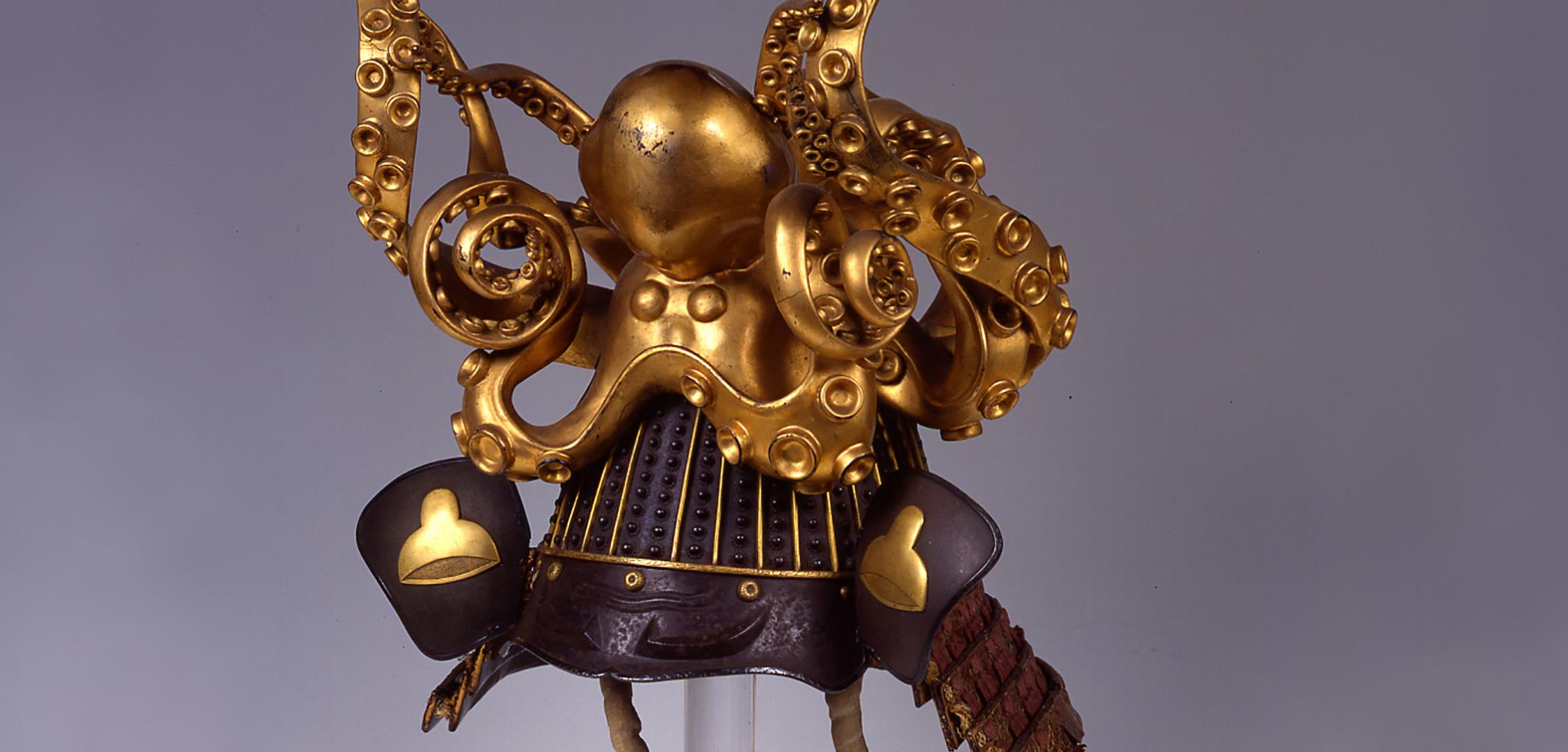 samurai helmet with octopus topper