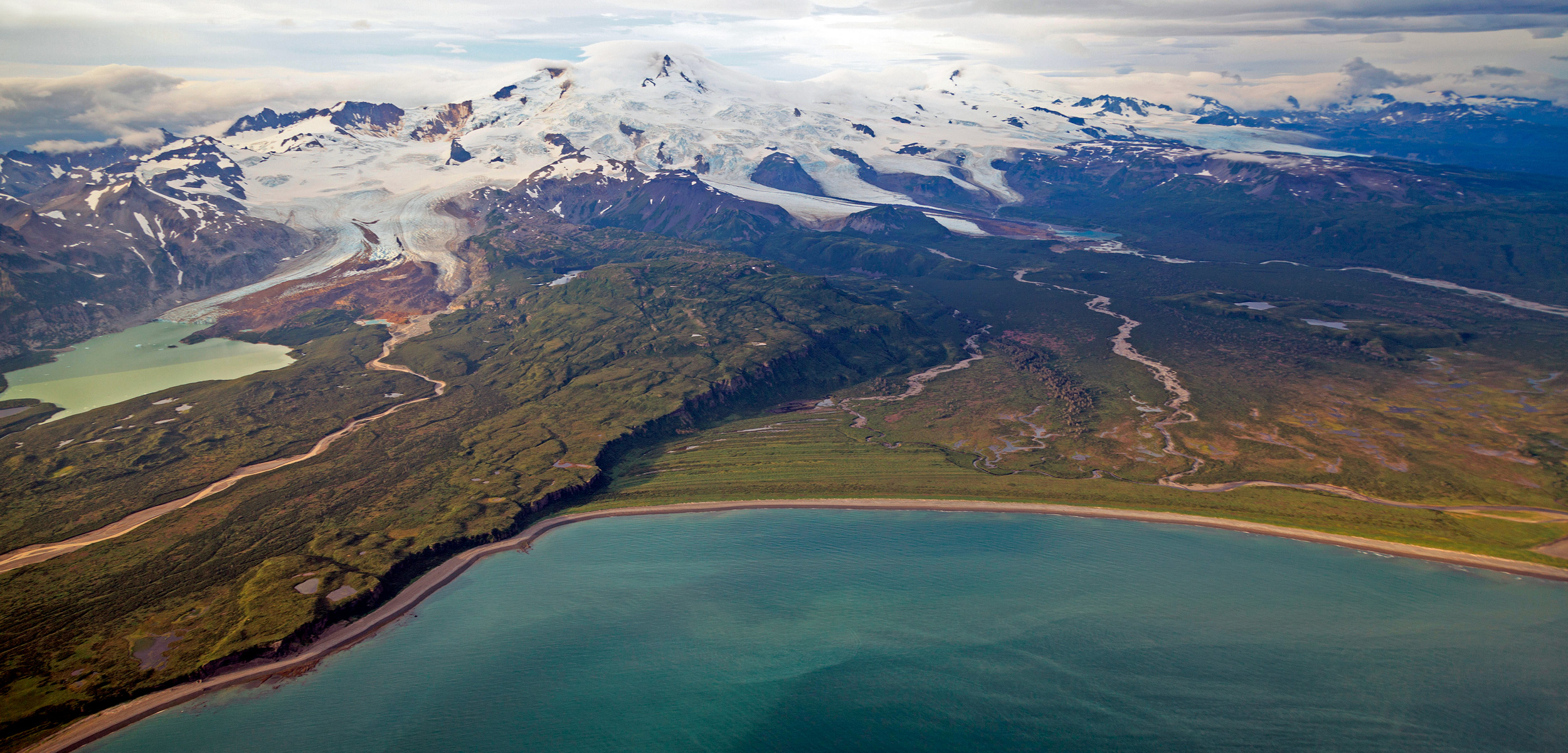 aerial photo of Katmai National Park, Alaska