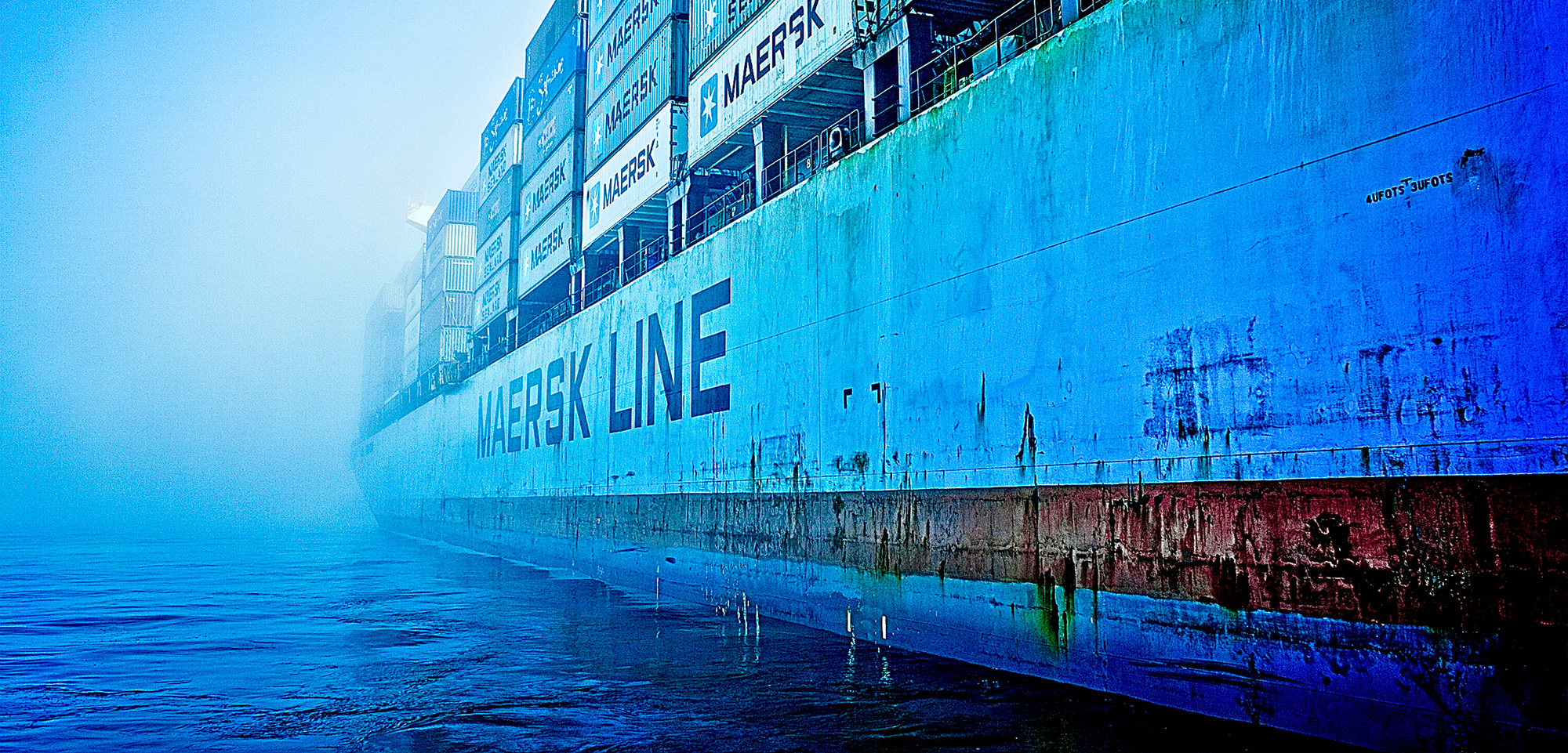 a Maersk container ship